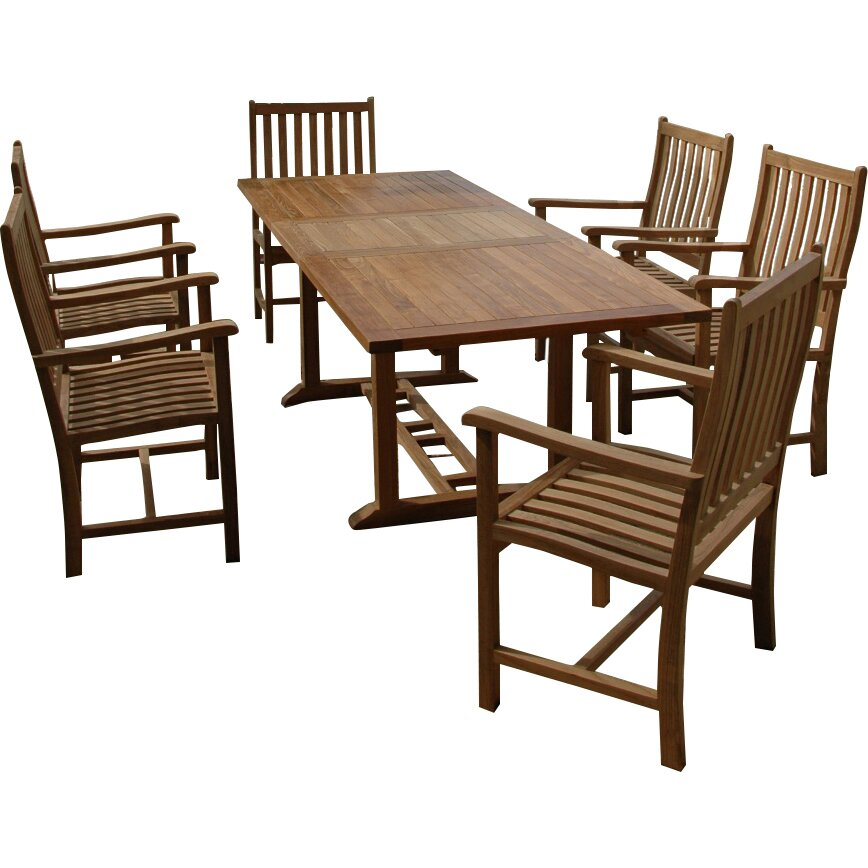Beachcrest home milena 7 piece dining set wayfair for 7 piece dining set