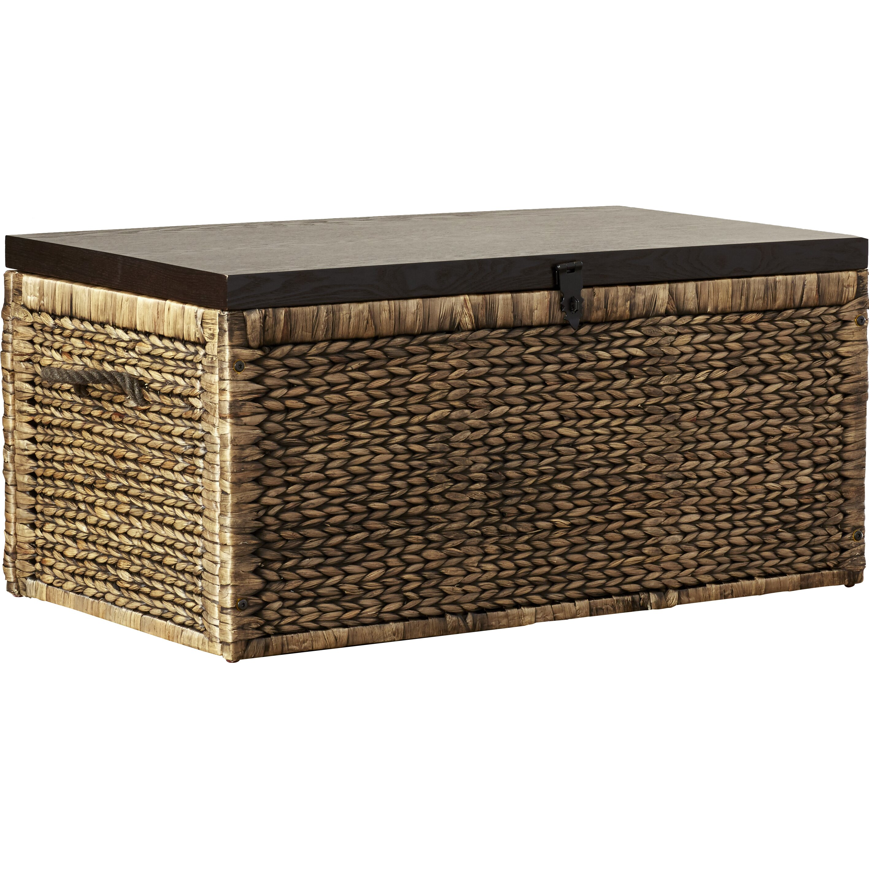 Wicker Storage Chest Coffee Table Furniture Woven