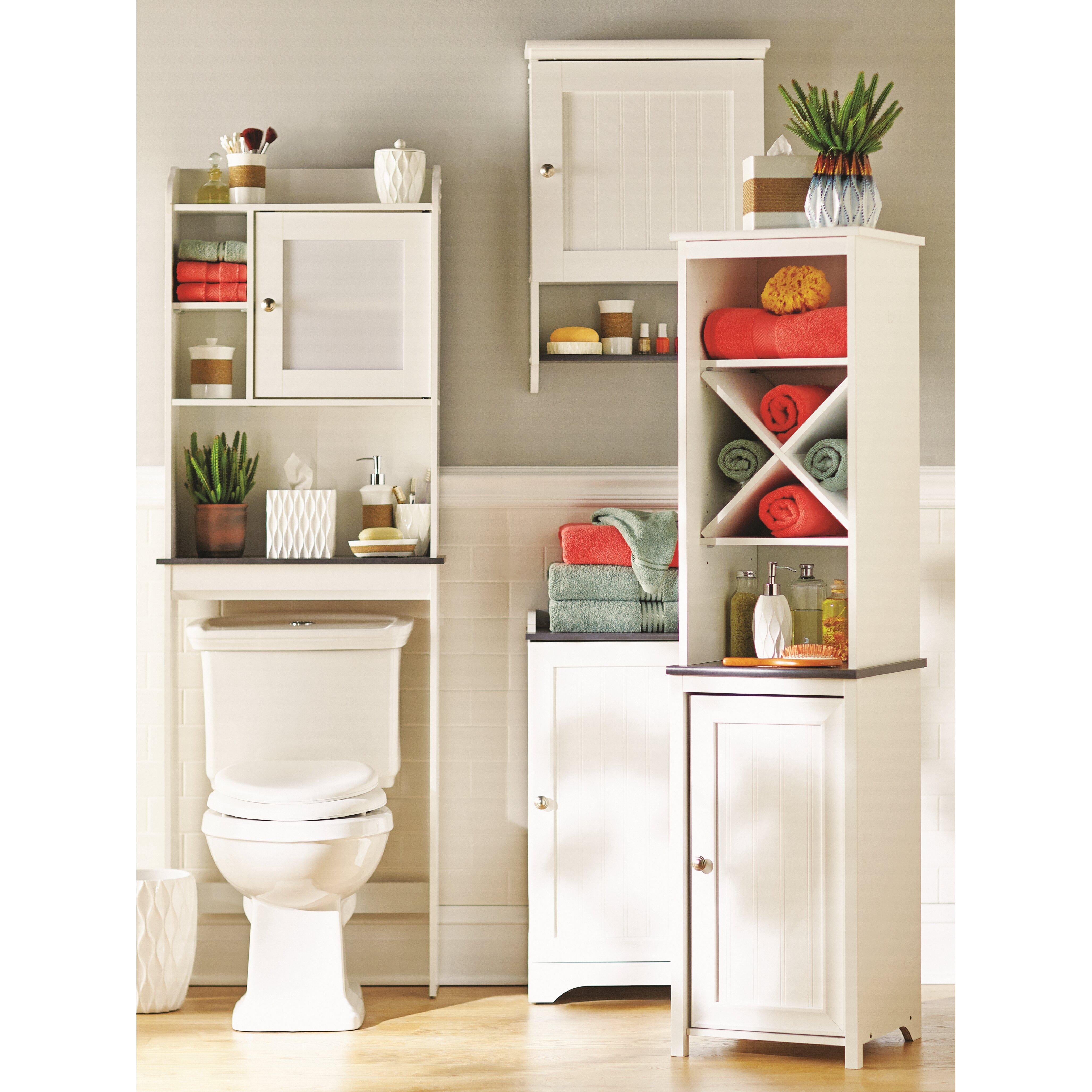 Beachcrest home gulf free standing linen tower - Freestanding bathroom linen closet ...