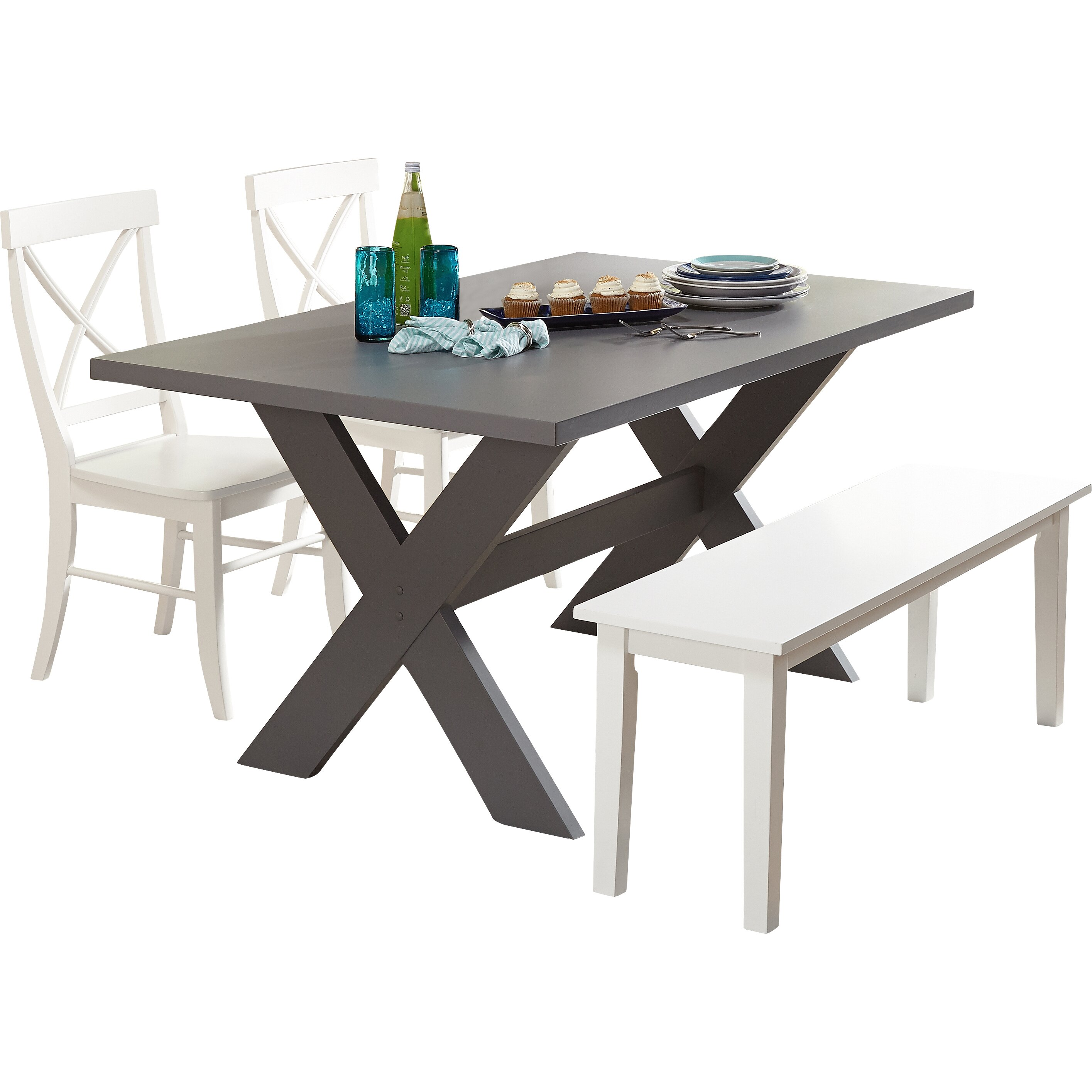 Beachcrest home medulla 4 piece dining set reviews wayfair for 4 piece dining room set
