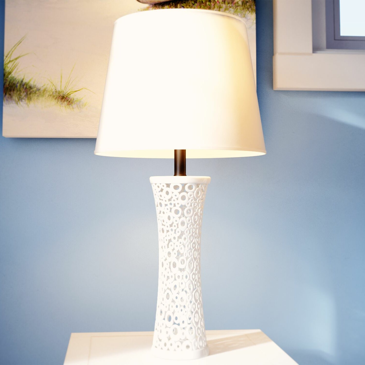 beachcrest home plymouth 26 table lamp reviews wayfair. Black Bedroom Furniture Sets. Home Design Ideas