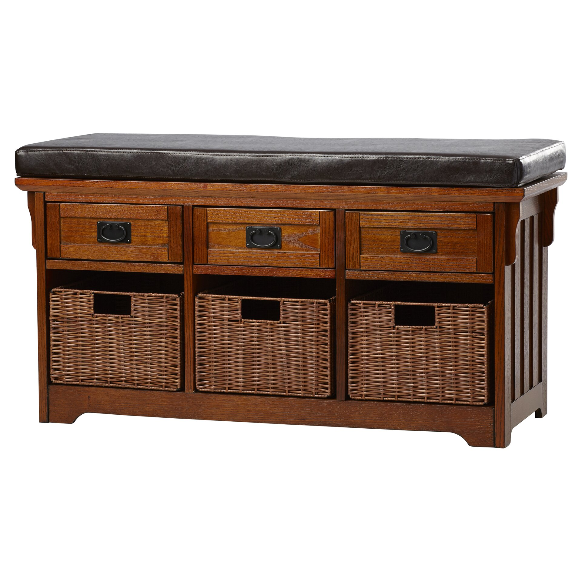 Foyer Mudroom Review : Loon peak hemlock wooden entryway storage bench reviews