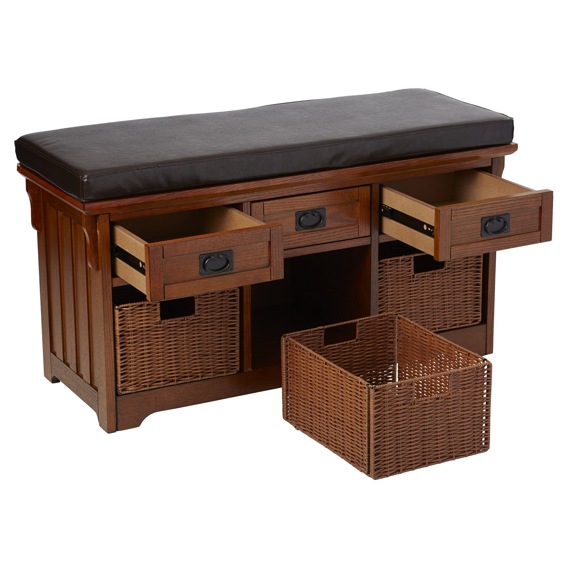 Loon Peak Hemlock Wooden Entryway Storage Bench Reviews