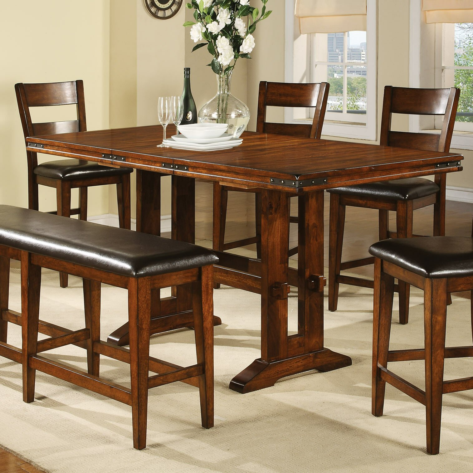 Loon Peak Agatha Counter Height Extendable Dining Table  : Loon Peak Agatha Counter Height Extendable Dining Table LOON1761 from www.wayfairsupply.com size 1516 x 1516 jpeg 491kB