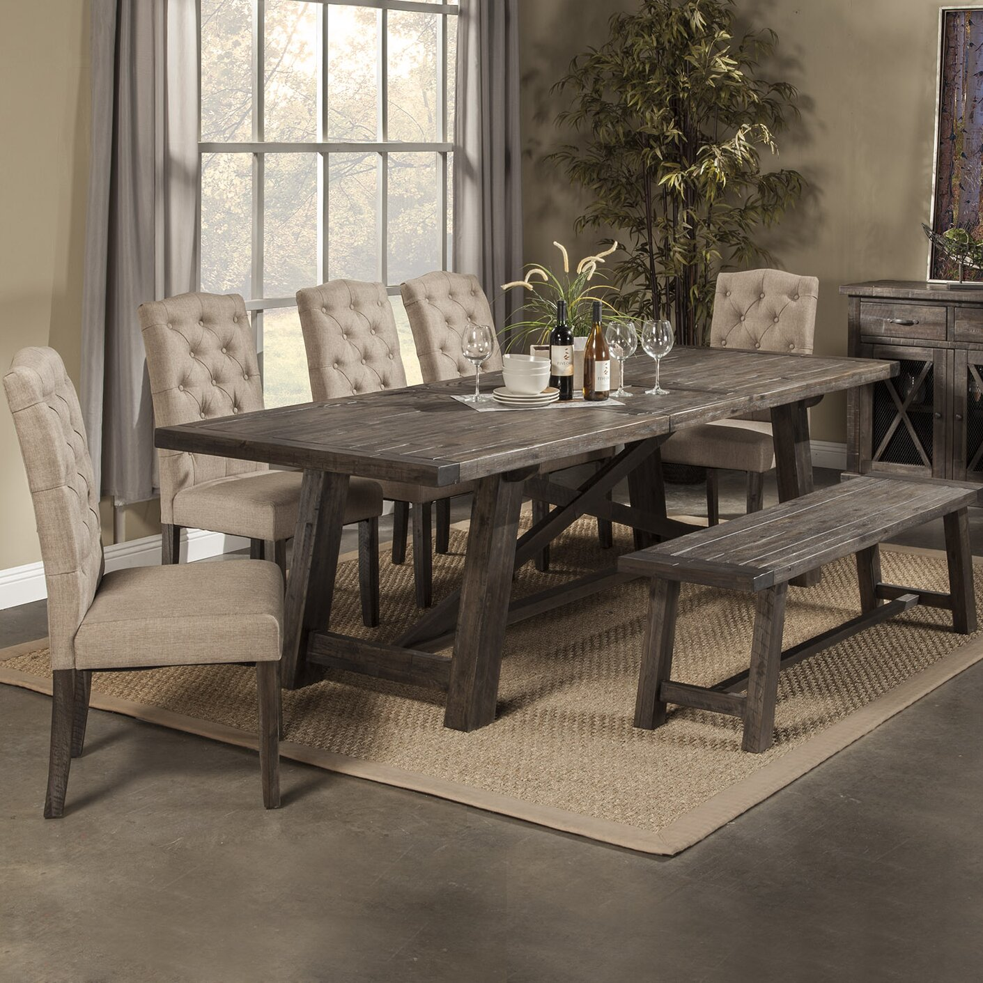 Loon peak todd creek 7 piece dining set reviews wayfair for Decor 7 piece lunch set
