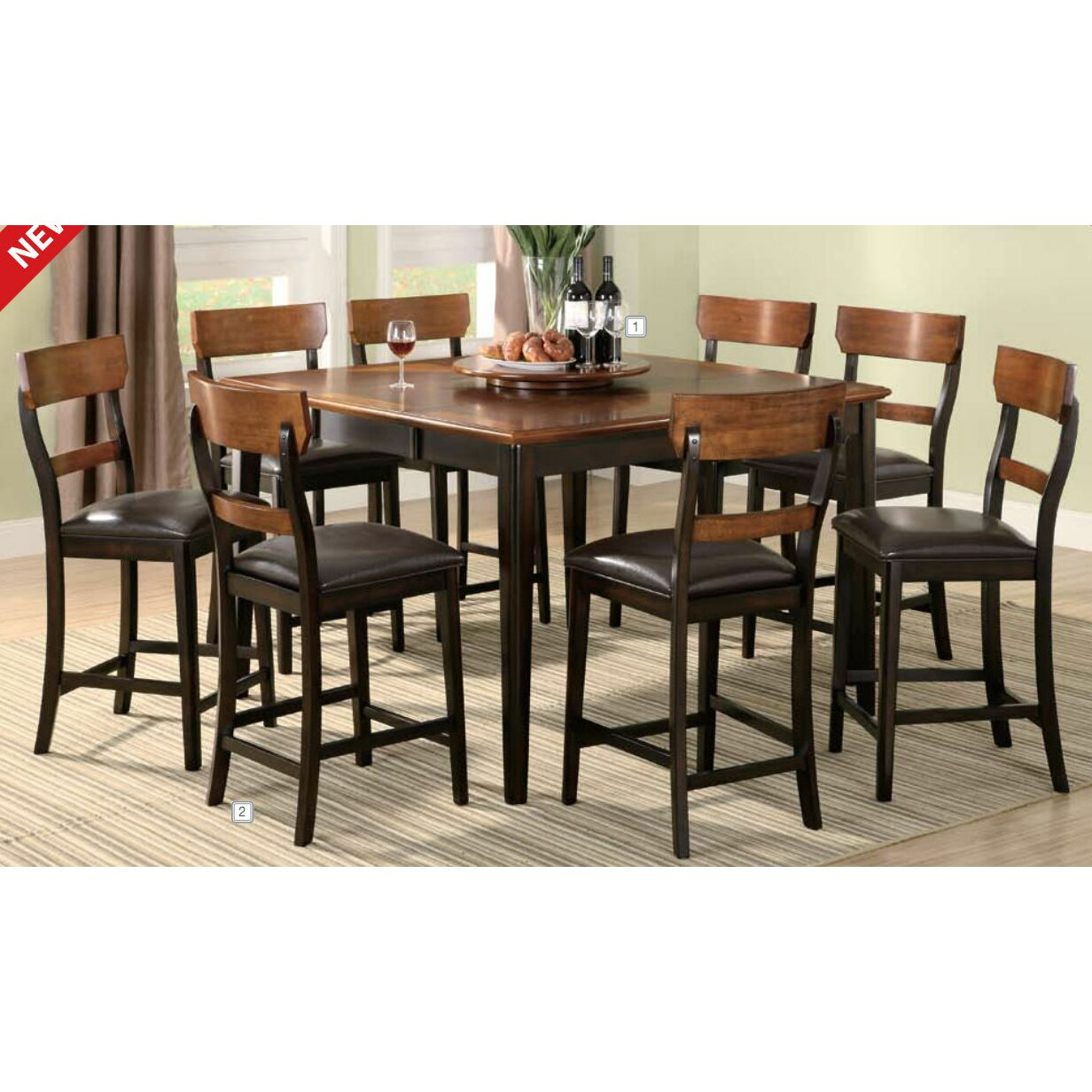 Loon Peak Coaldale Counter Height Extendable Dining Table  : Coaldale Counter Height Dining Table LOON2639 from www.wayfair.com size 1232 x 1232 jpeg 256kB