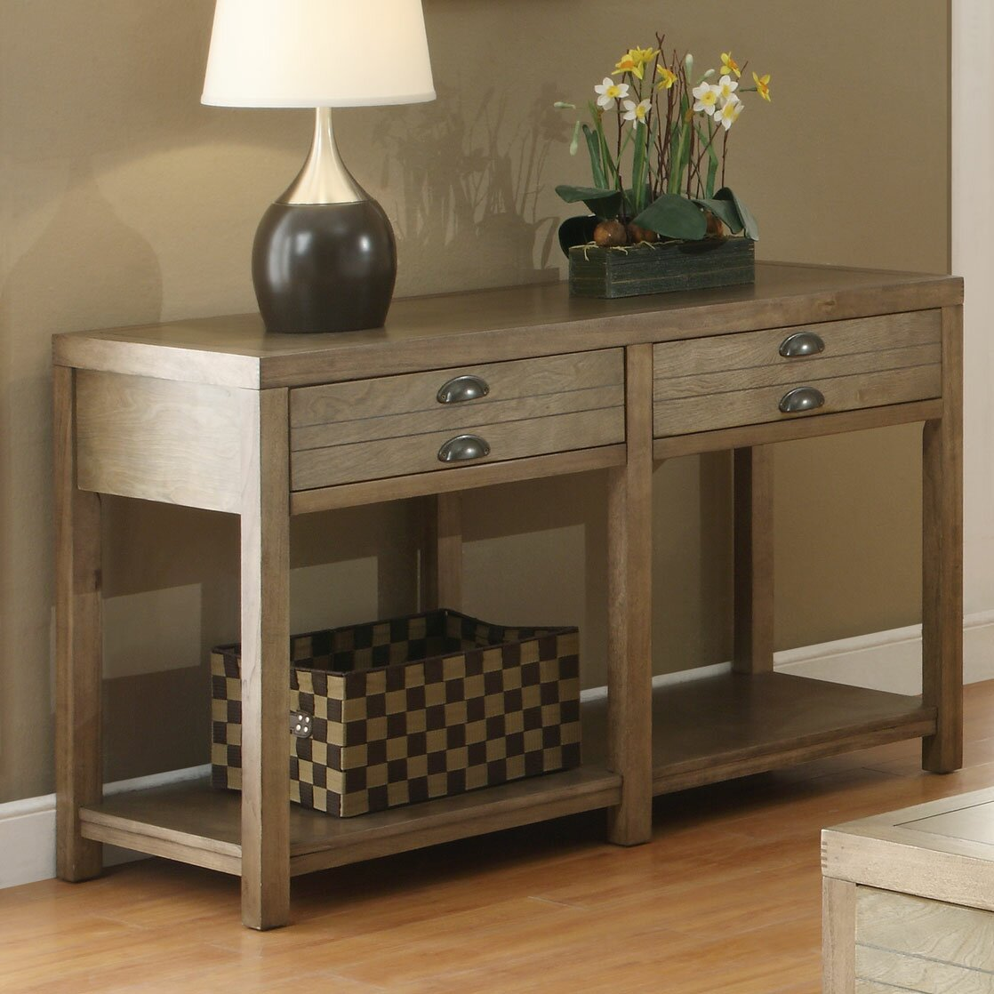loon peak south divide console table reviews wayfair. Black Bedroom Furniture Sets. Home Design Ideas