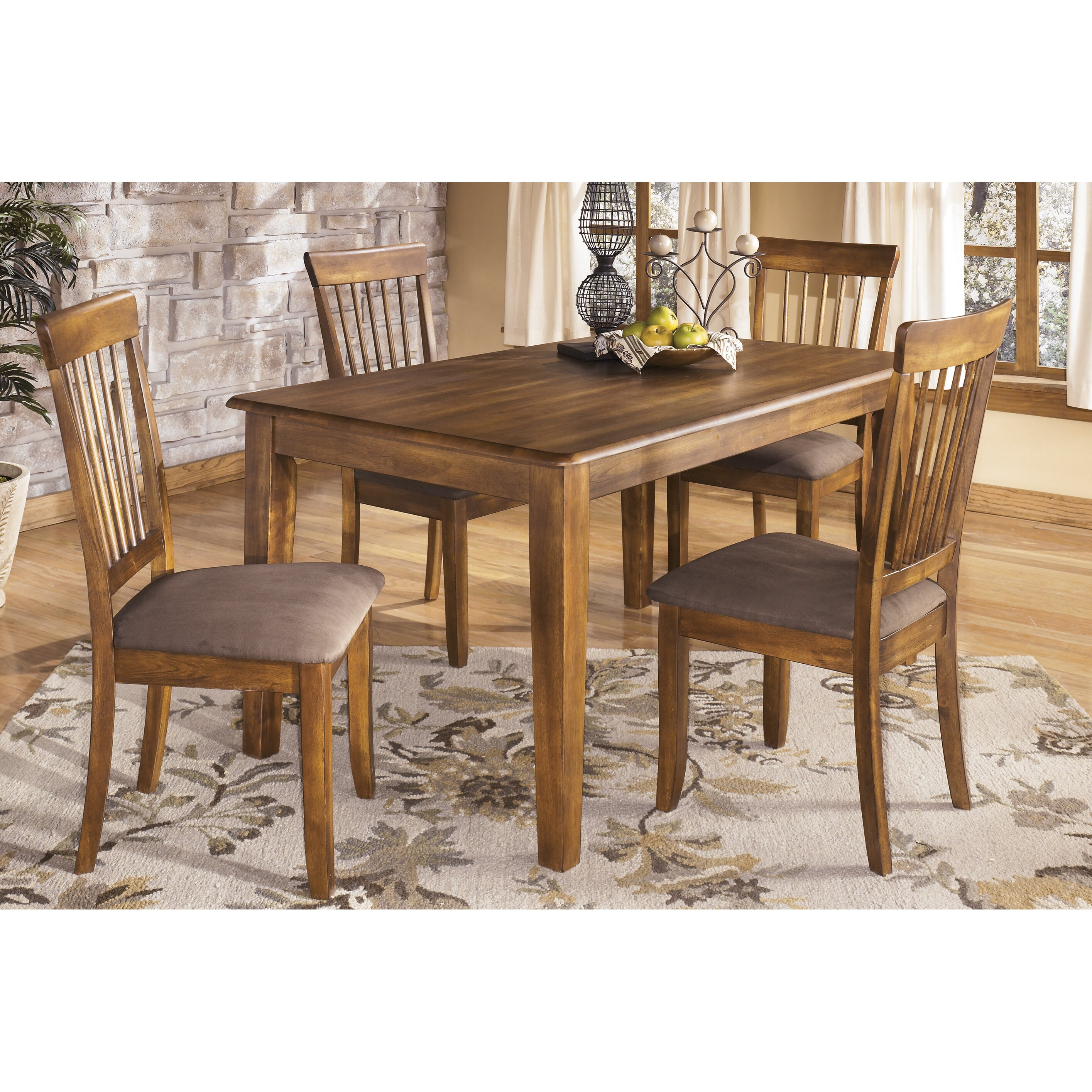 Loon peak kaiser point 5 piece dining set reviews wayfair for 2 piece dining room set