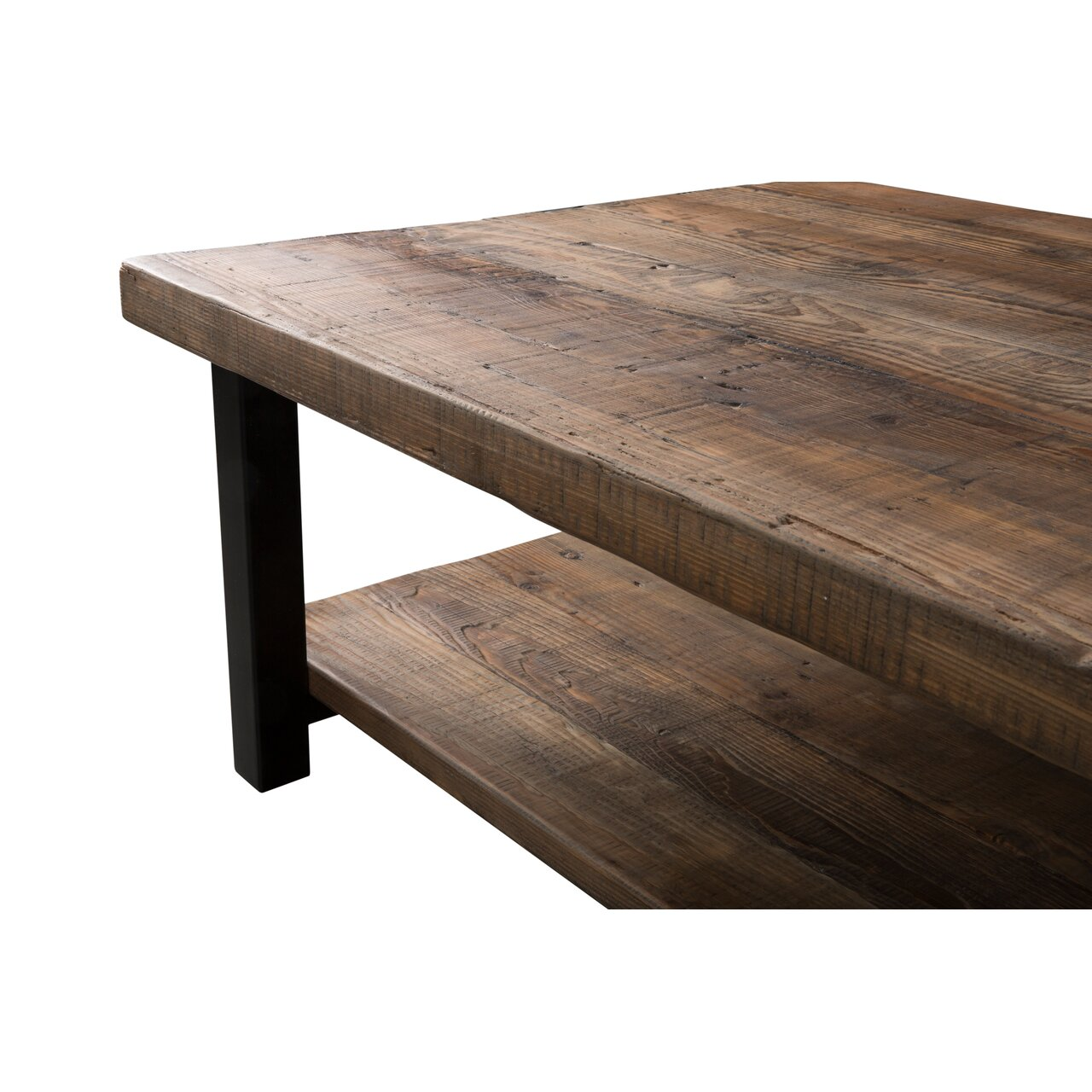 "Reclaimed Wood And Metal Coffee Table: Loon Peak Somers 48""W Reclaimed Wood/Metal Coffee Table"