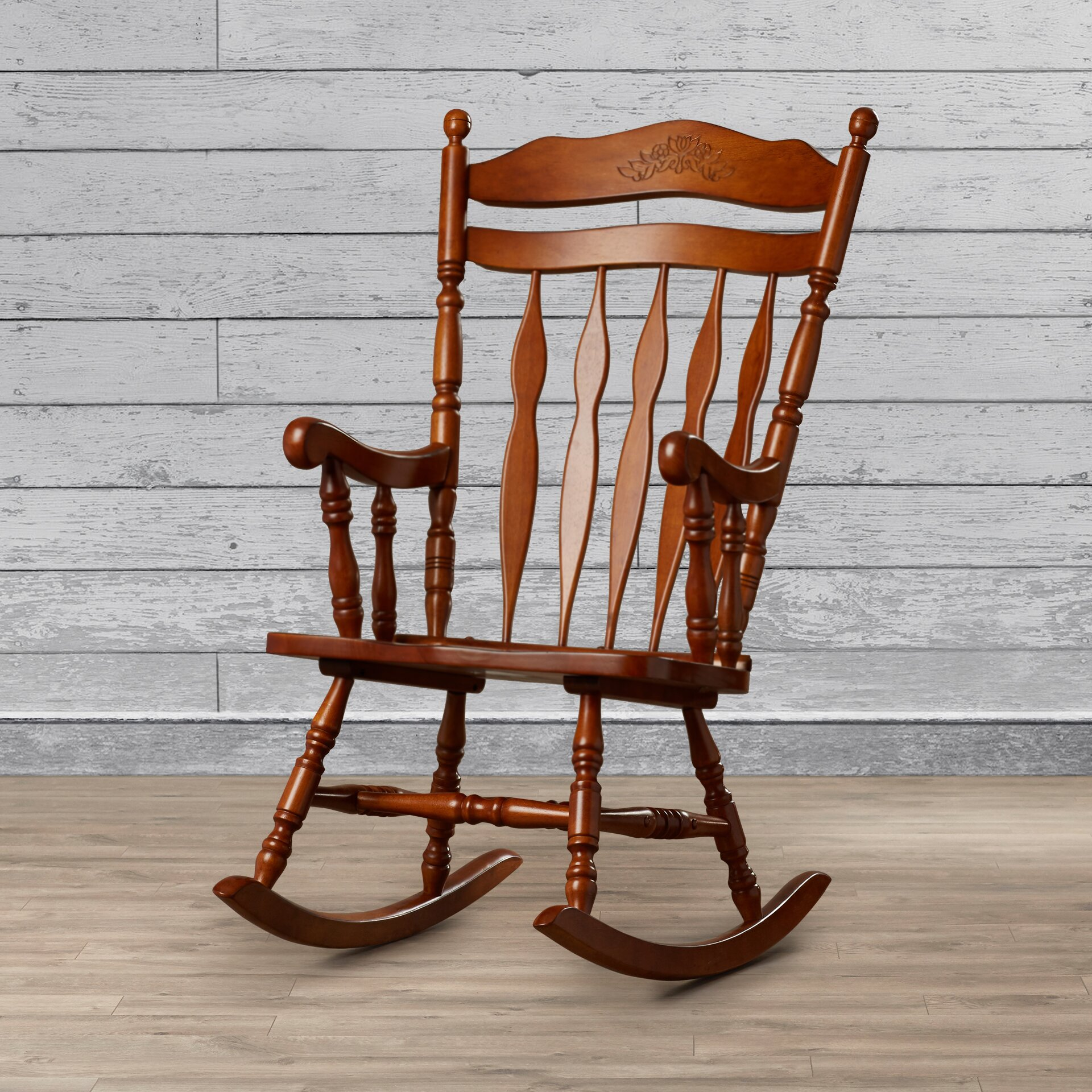 Furniture Living Room Furniture ... Wood Rocking Chairs Loon Peak SKU ...