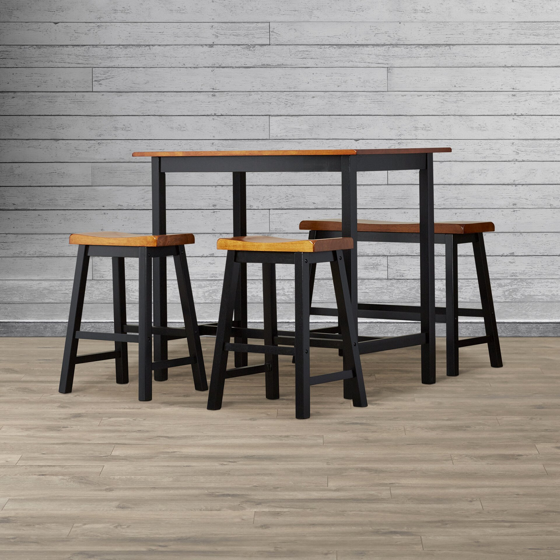 Loon peak rockchuck 4 piece dining set reviews wayfair for 4 piece dining room set