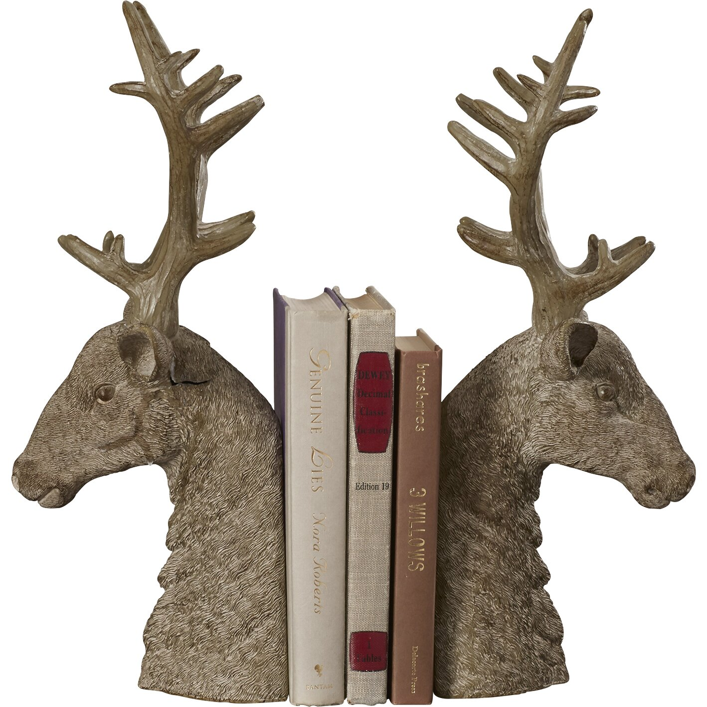 Loon peak pleasant view stag bookend reviews wayfair - Stag book ends ...