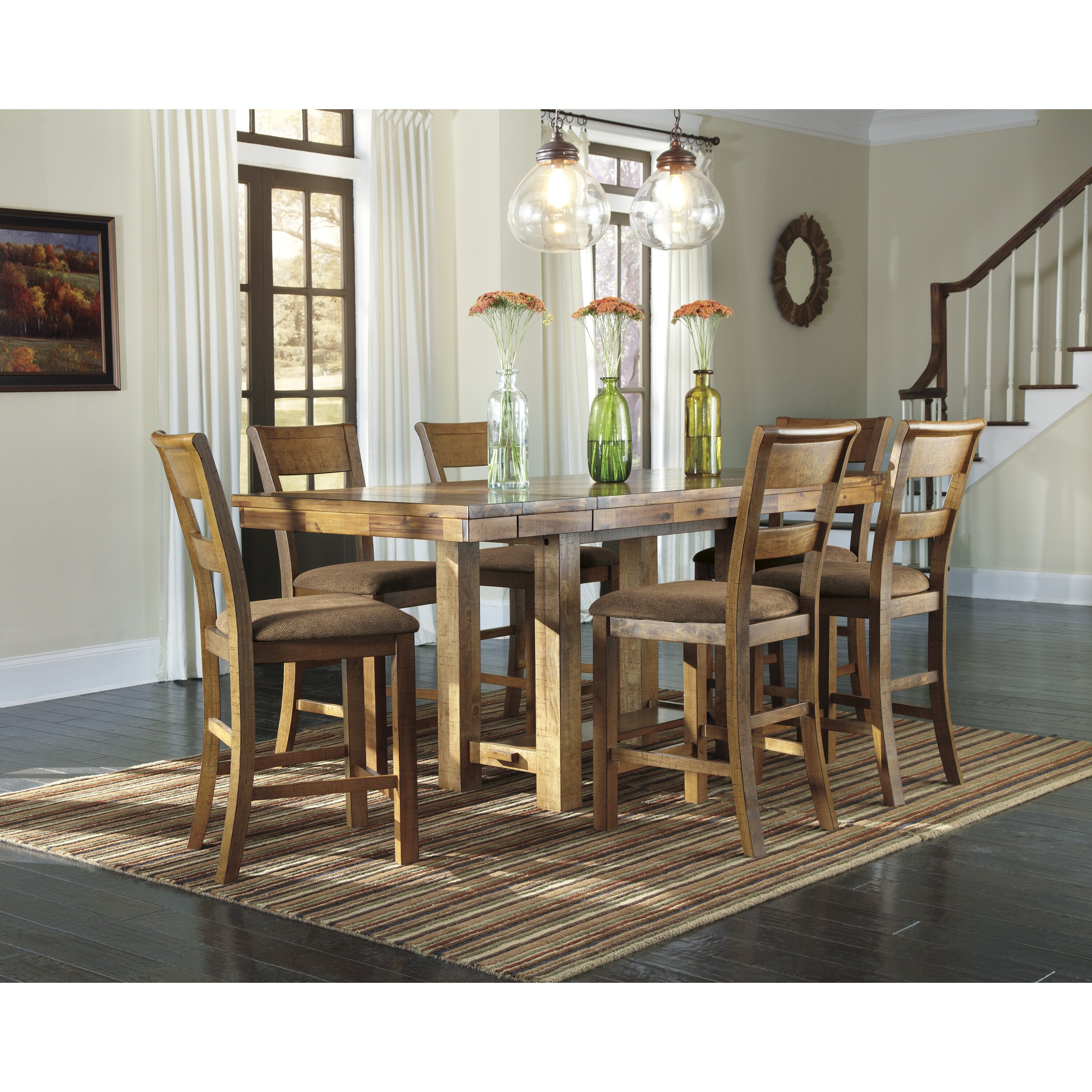 Loon Peak Cowley Counter Height Extendable Dining Table