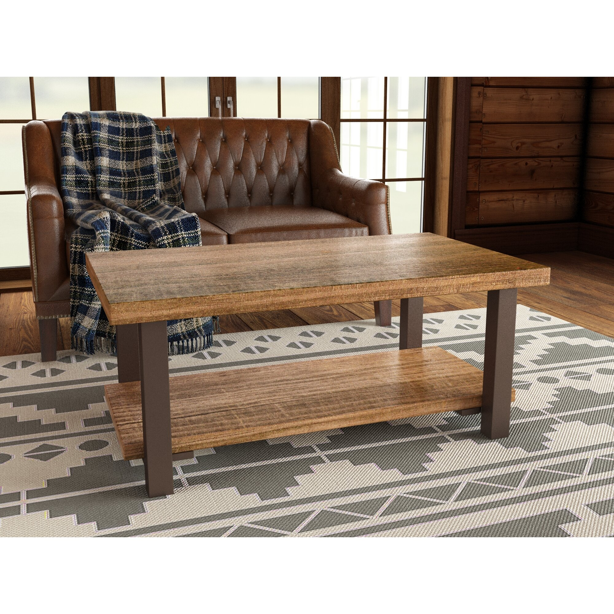"""Coffee Table Wood And Metal Aiden Coffee Table World: Loon Peak Somers 42"""" Wood/Metal Coffee Table & Reviews"""
