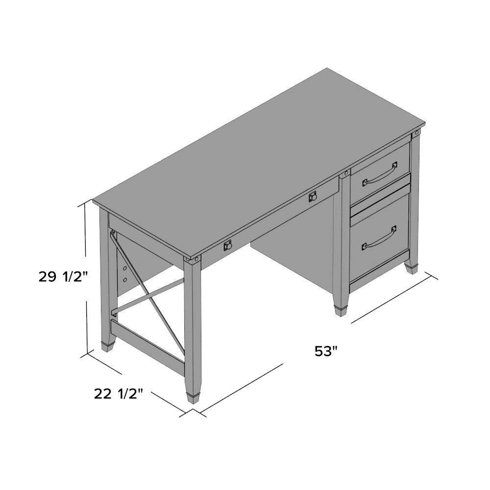 Loon Peak Newdale Computer Desk With 3 Drawers Amp Reviews