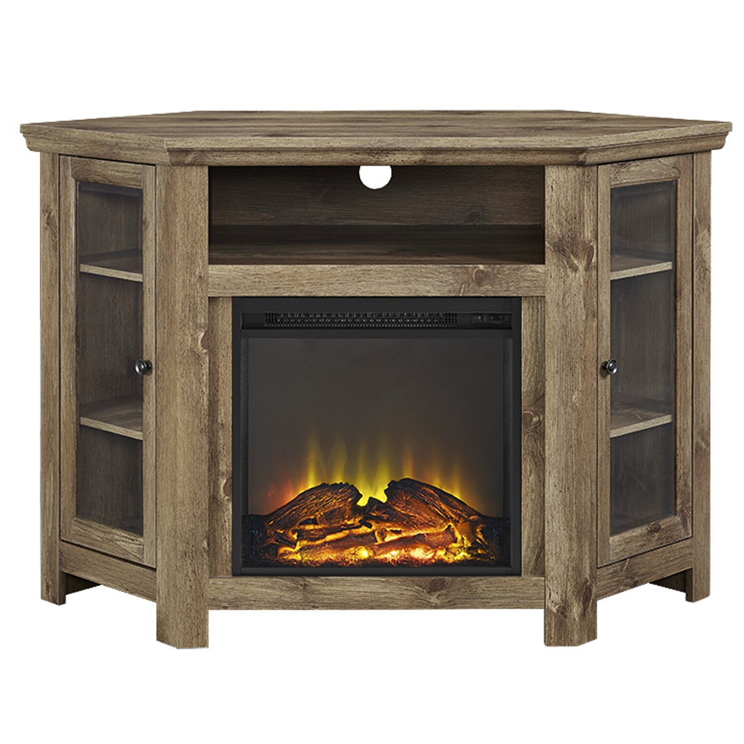 Loon Peak Pueblo Corner TV Stand With Electric Fireplace