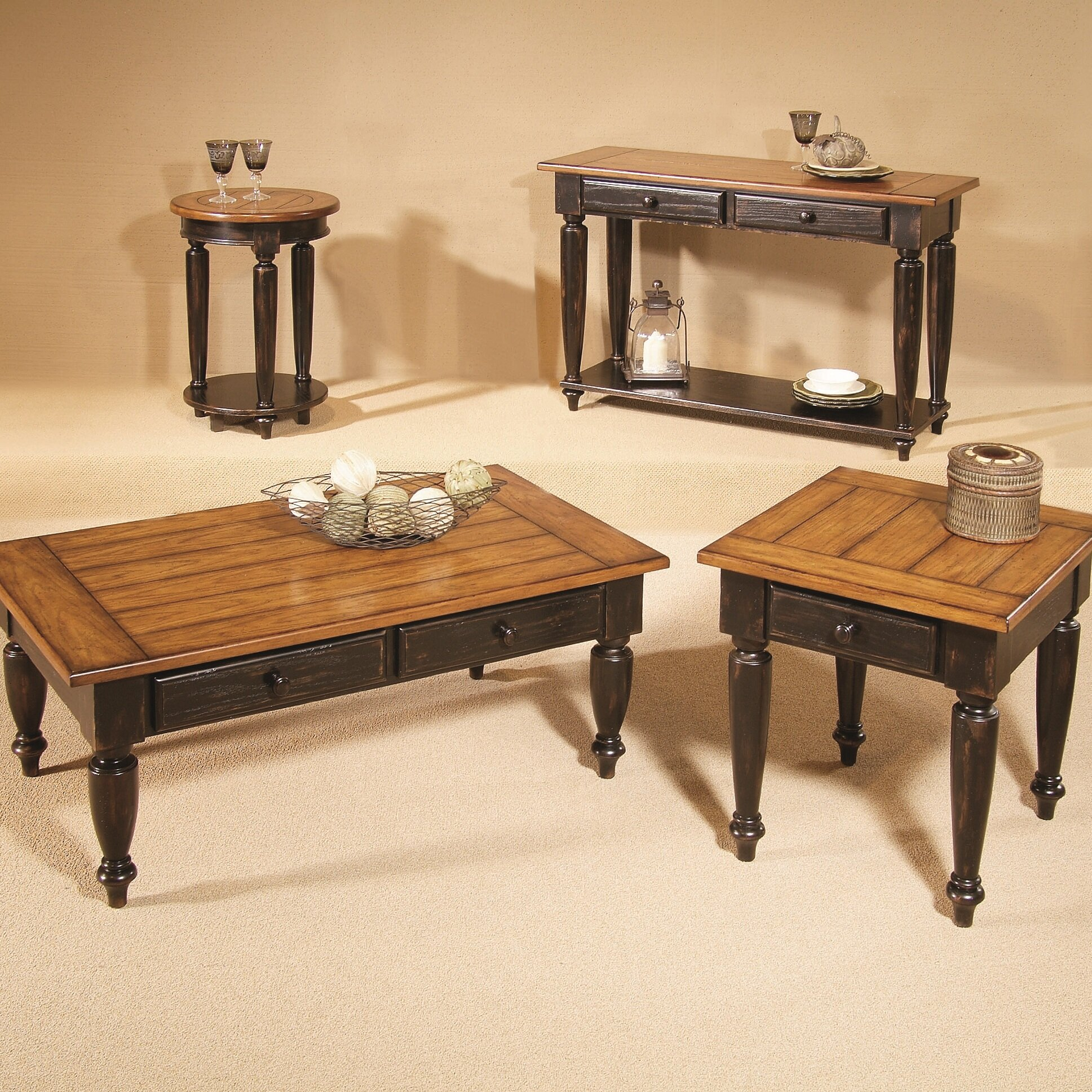 loon peak arona coffee table set reviews. Black Bedroom Furniture Sets. Home Design Ideas