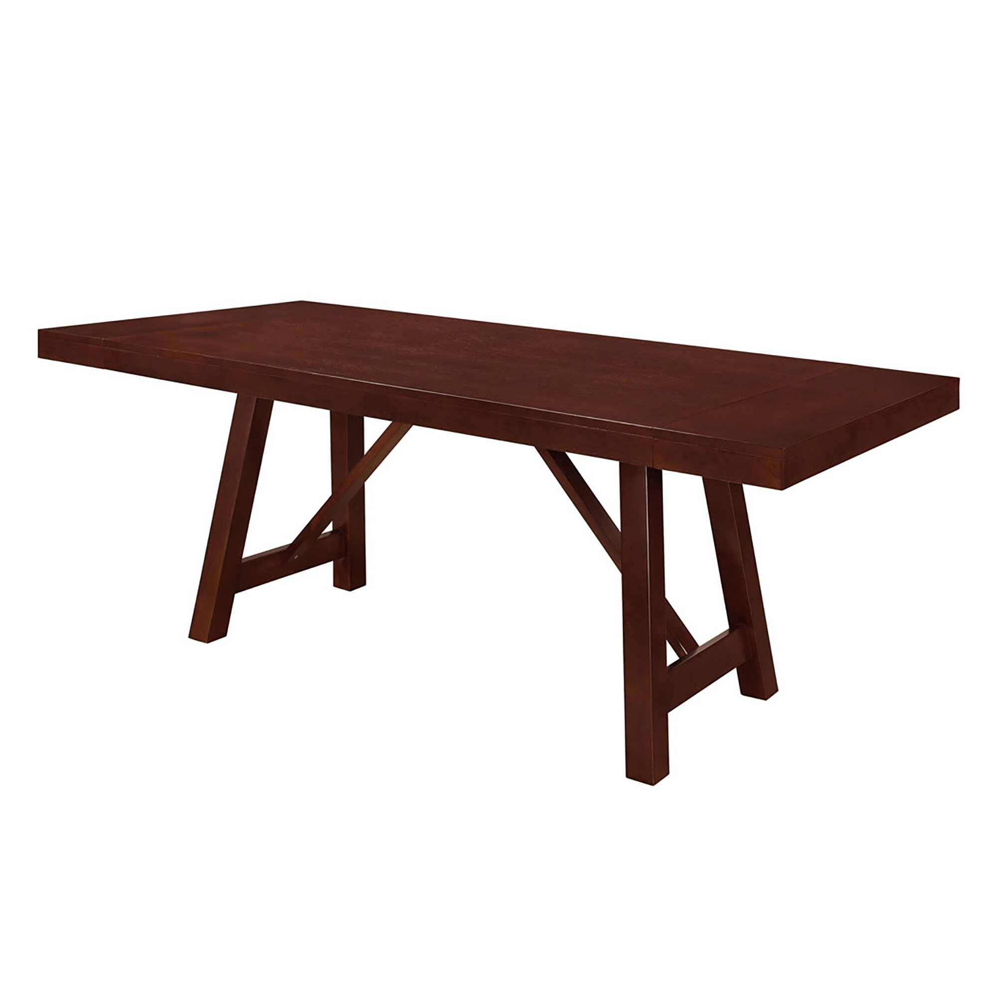 loon peak chiswick solid wood trestle extendable dining