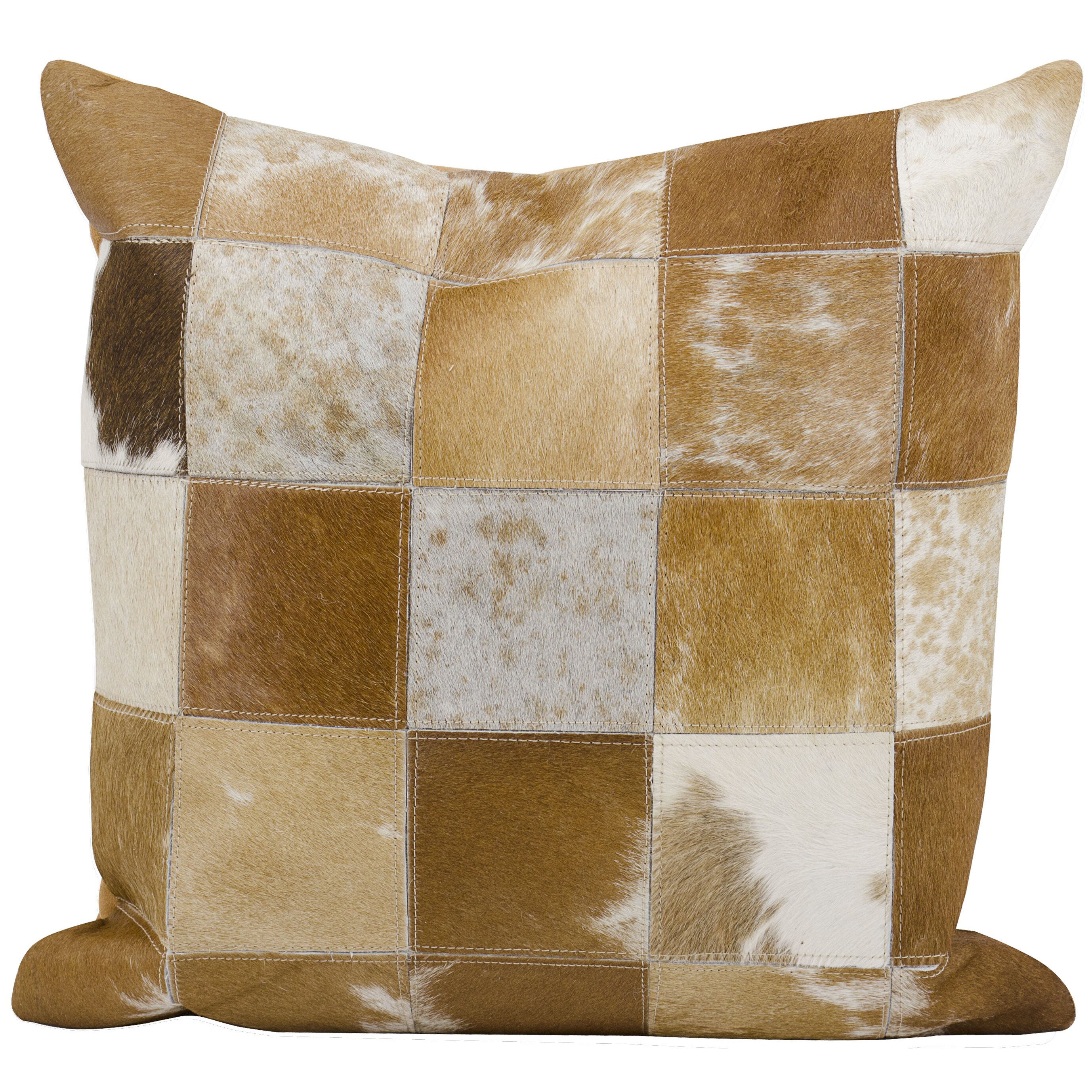 Trent Austin Design Natural Leather Hide Throw Pillow & Reviews Wayfair