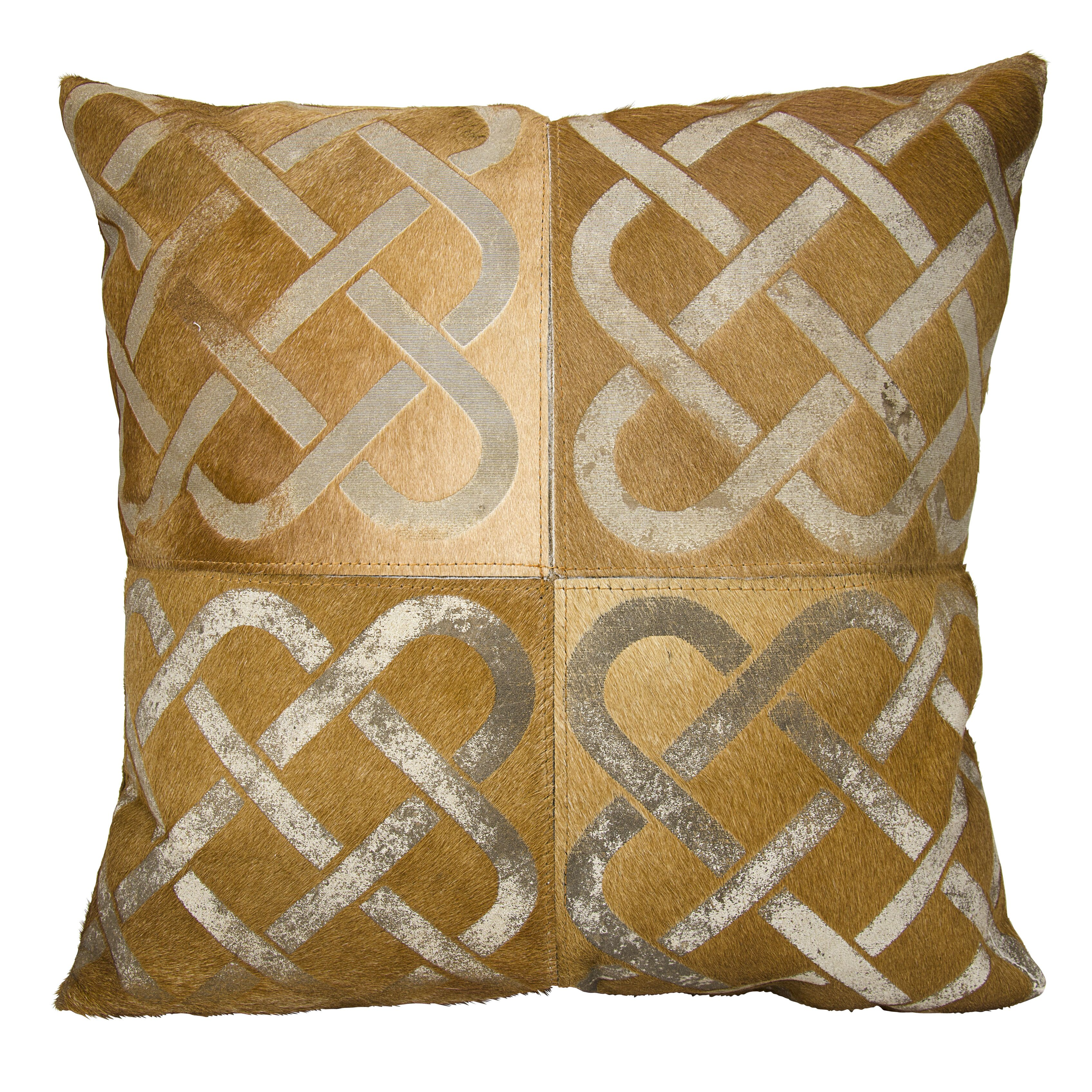 Trent Austin Design Agate Infinity Square Leather Throw Pillow Wayfair