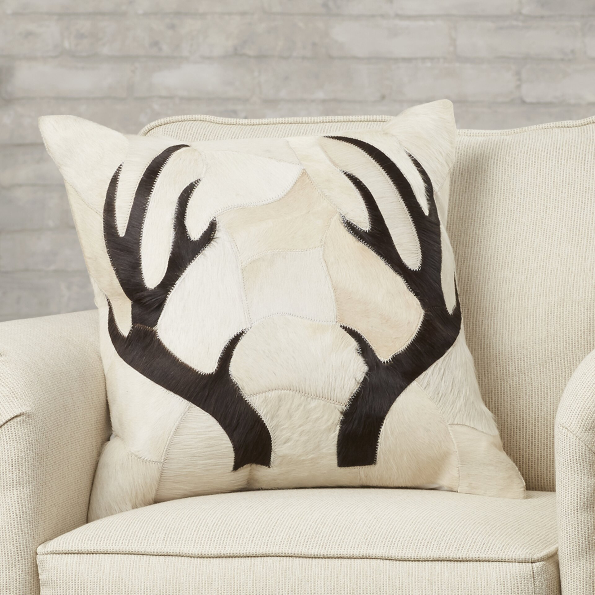 Antler Throw Pillow : Trent Austin Design Agate Antler Piecework Hide Throw Pillow & Reviews Wayfair