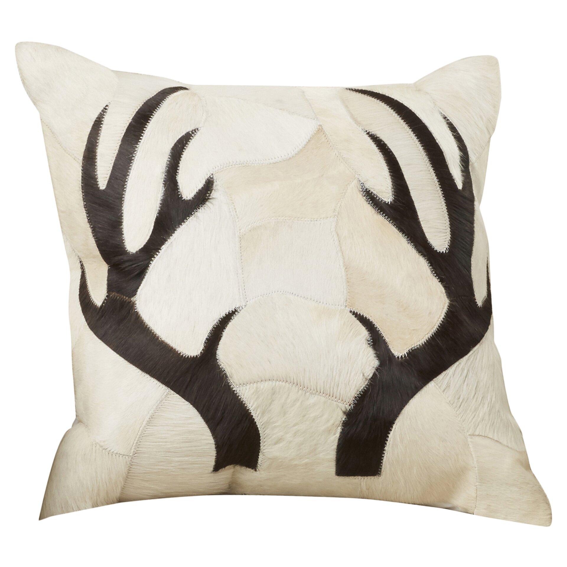 Trent Austin Design Agate Antler Piecework Hide Throw Pillow & Reviews Wayfair
