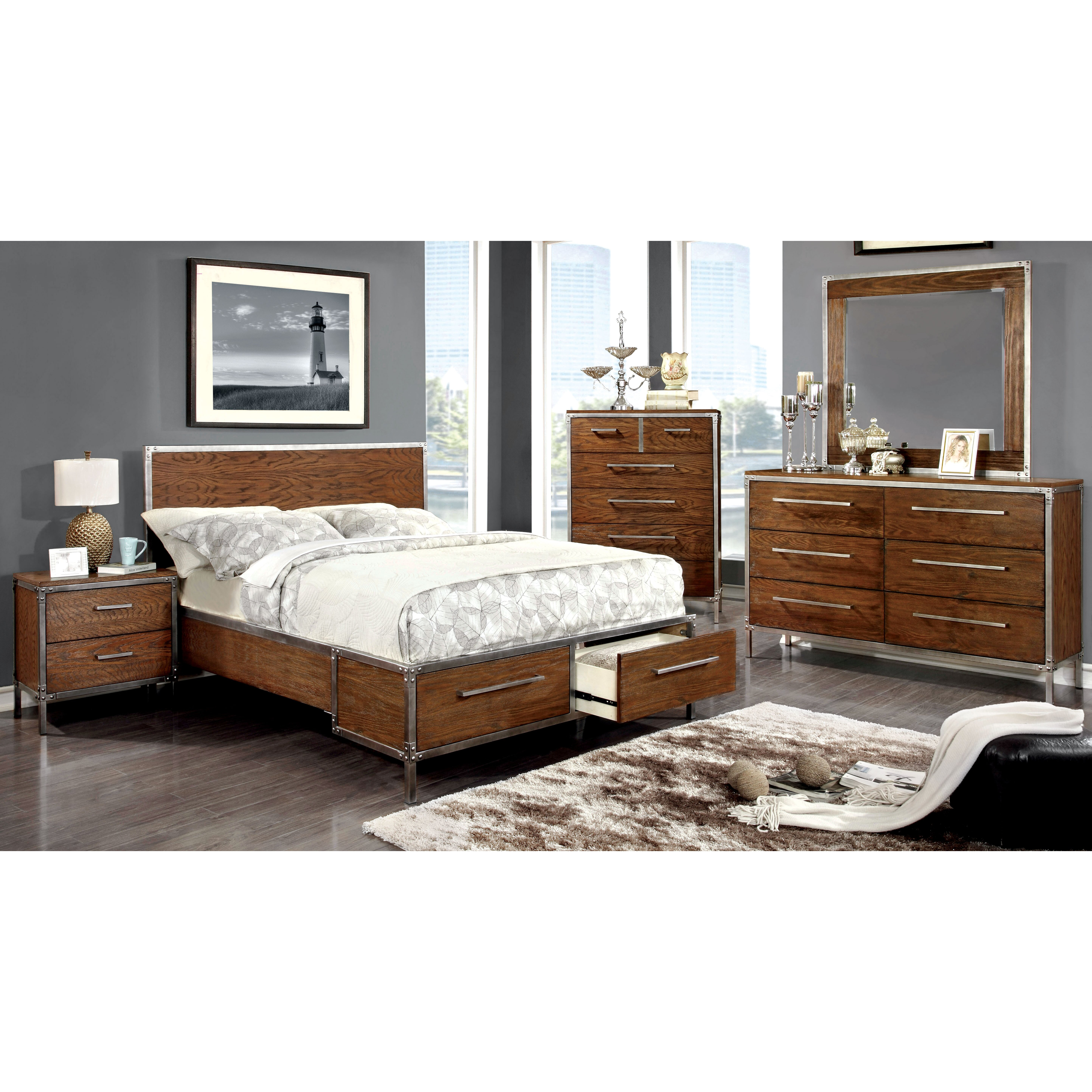 Trent austin design willard 2 drawer nightstand reviews - Industrial style bedroom furniture ...