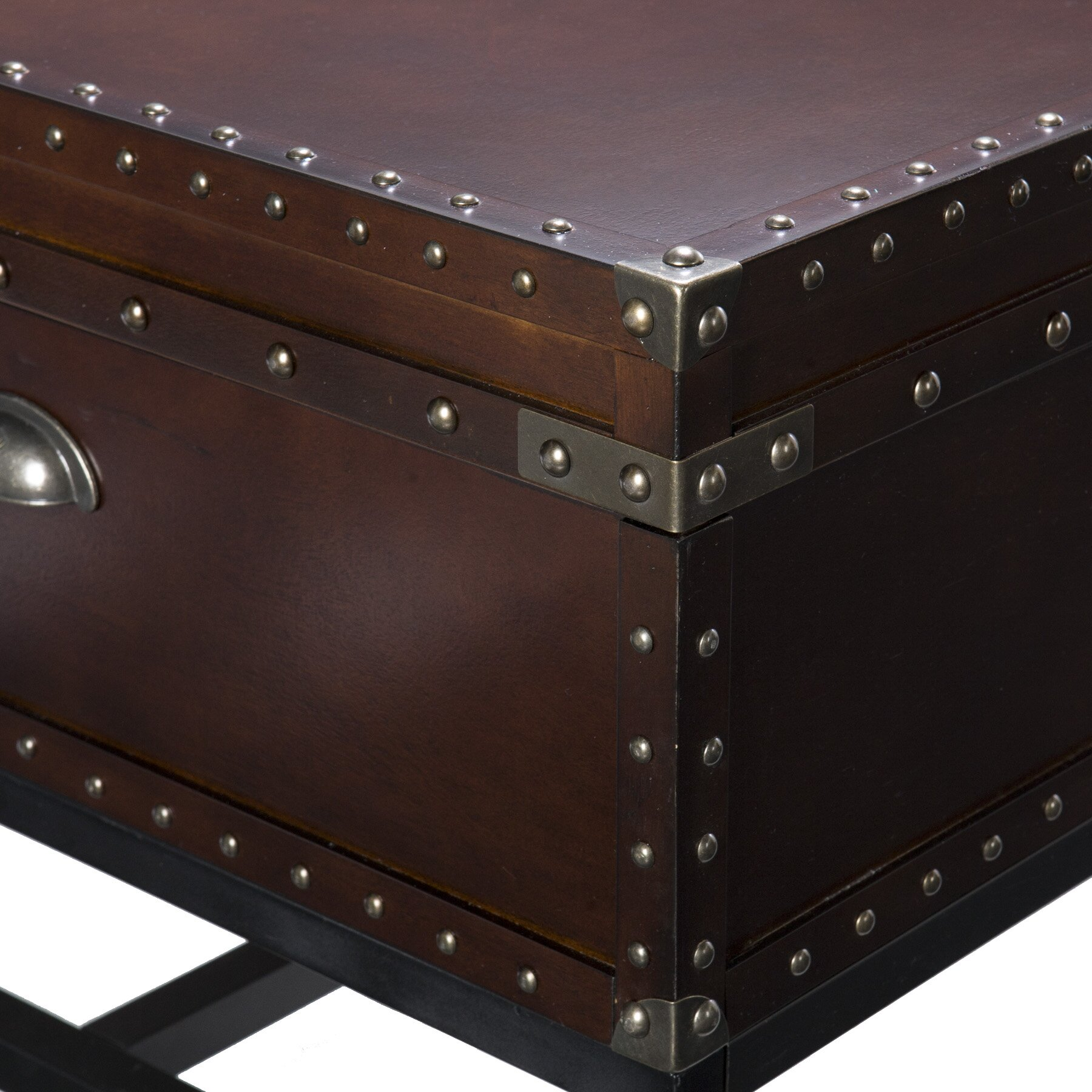 Trent austin design aztec trunk coffee table reviews for Glass trunk coffee table