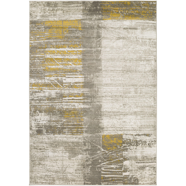 Trent Austin Design Chartwell Light Grey/Gold Area Rug