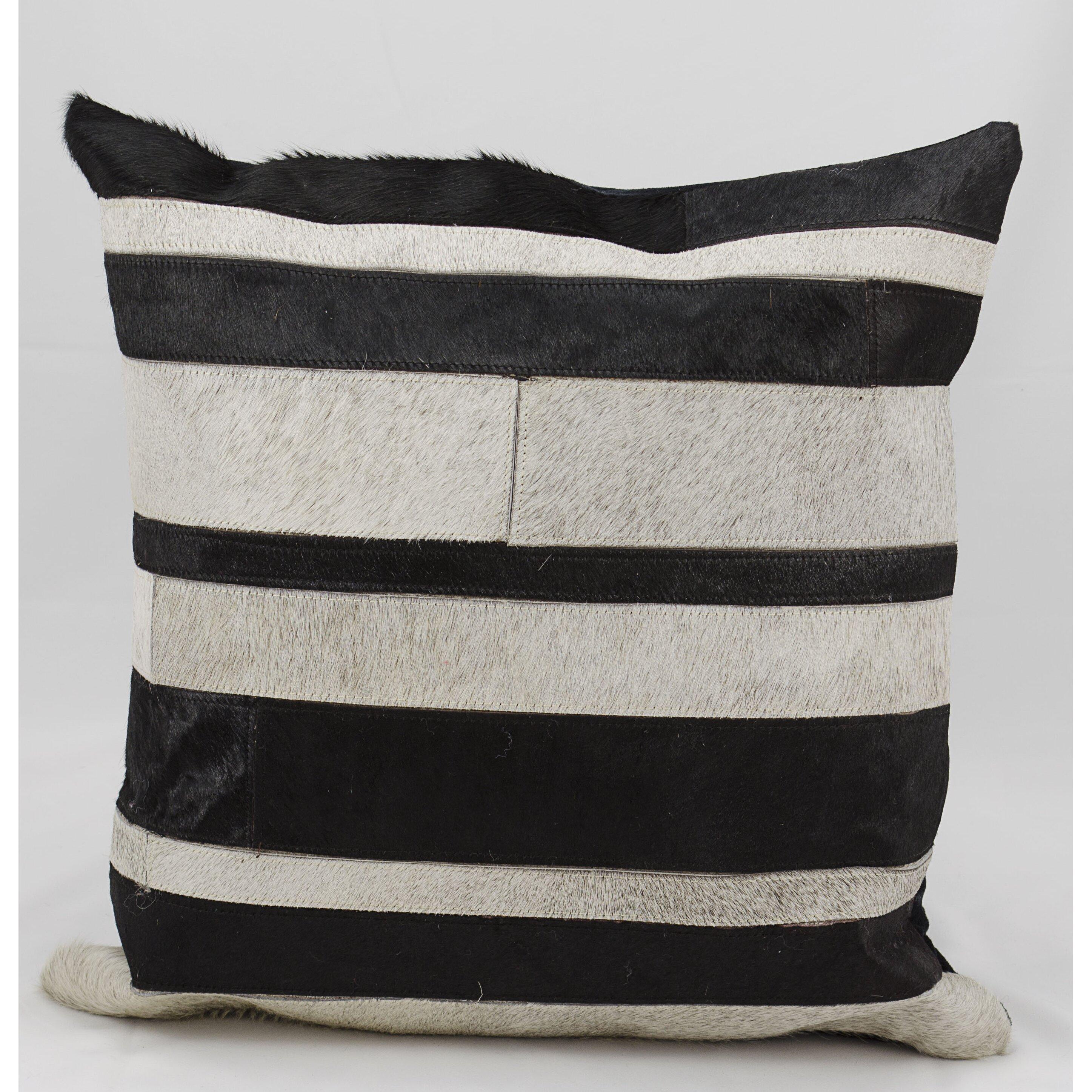 Throw Pillow Leather : Trent Austin Design Creekbluff Natural Leather Hide Throw Pillow Wayfair