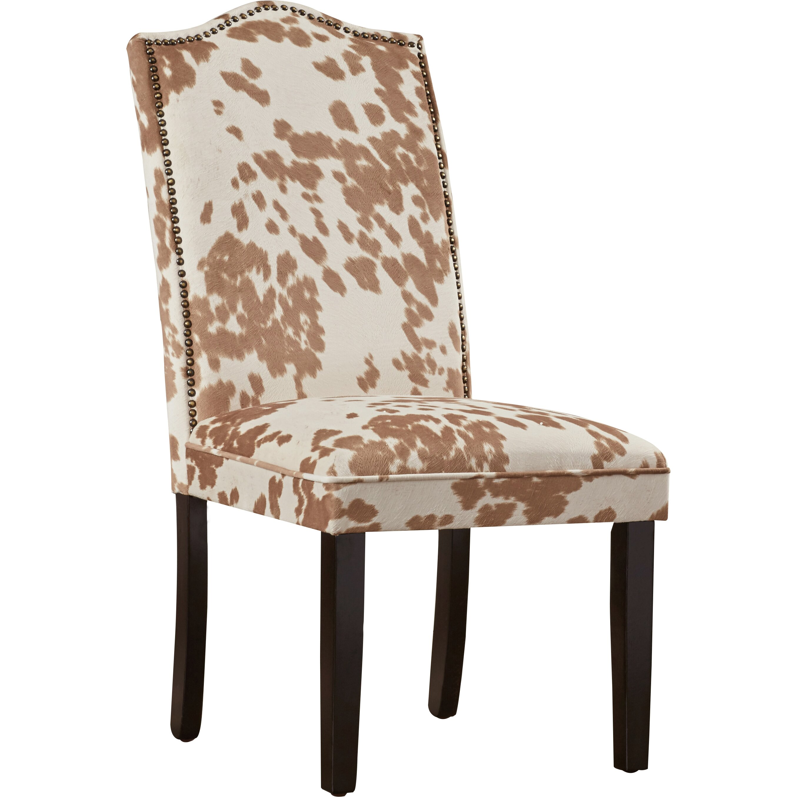 Trent austin design healdsburg nailhead parsons chair for Low back parsons dining chair