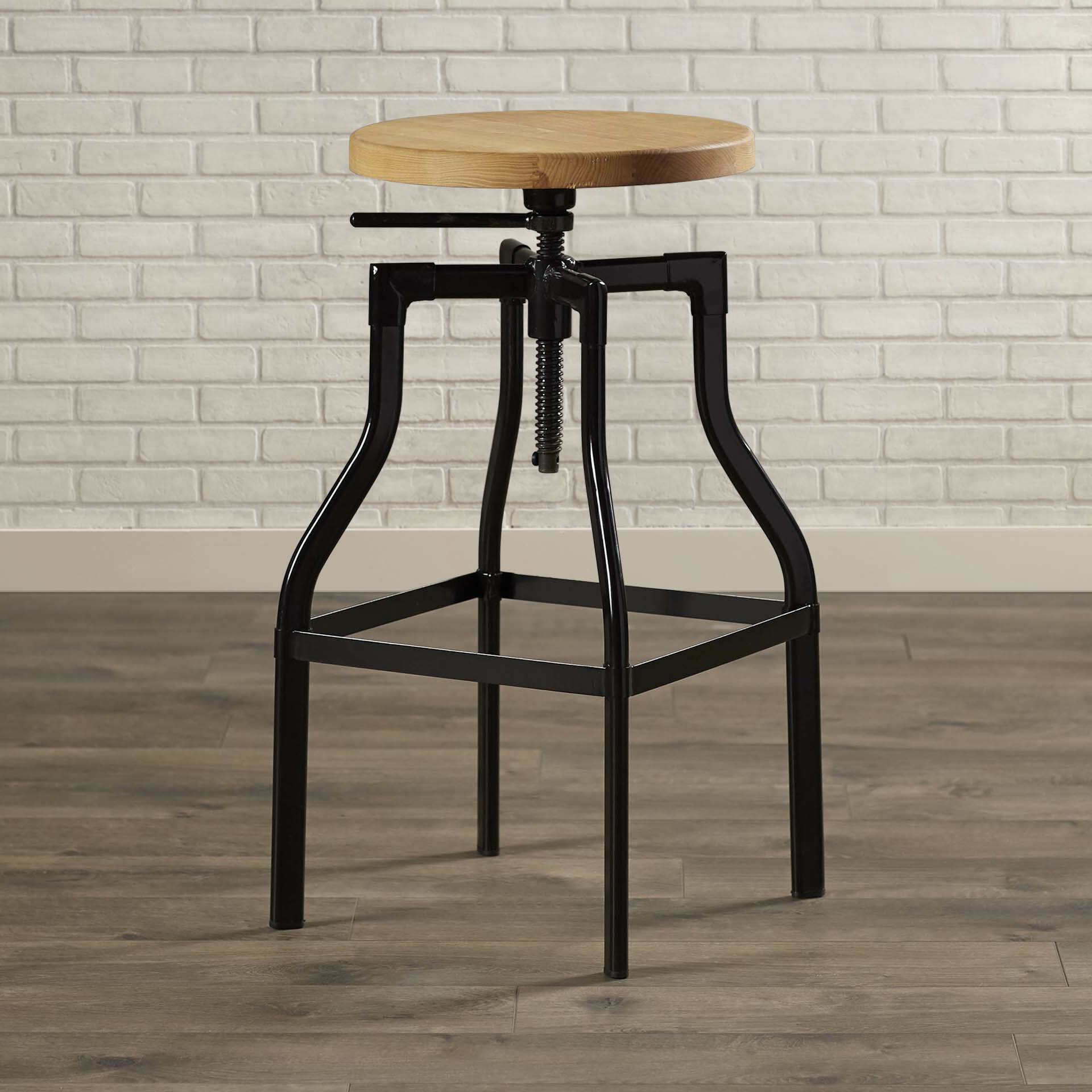 trent austin design donington adjustable height swivel bar stool reviews wayfair. Black Bedroom Furniture Sets. Home Design Ideas