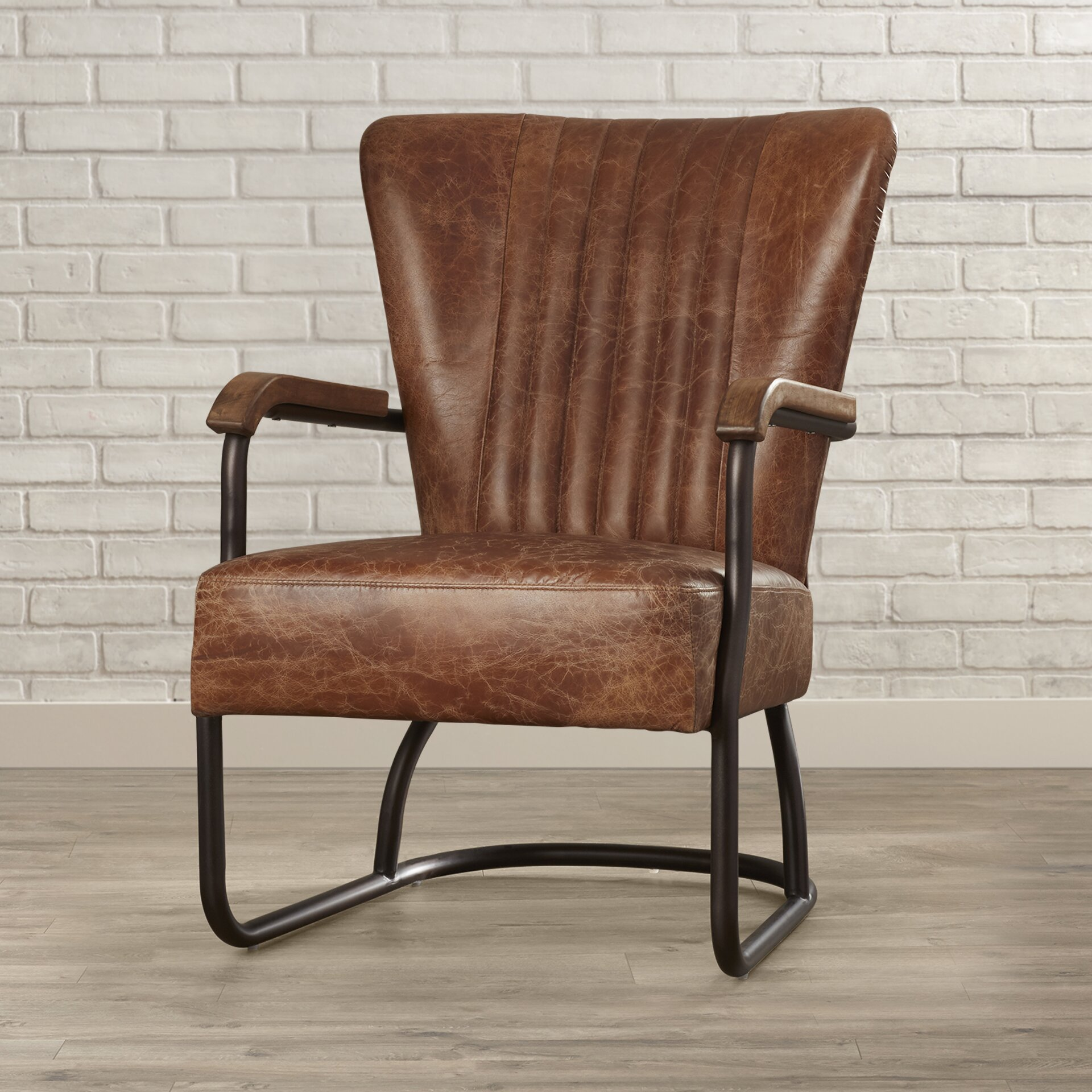 trent austin design cactus lane top grain leather arm chair reviews. Black Bedroom Furniture Sets. Home Design Ideas