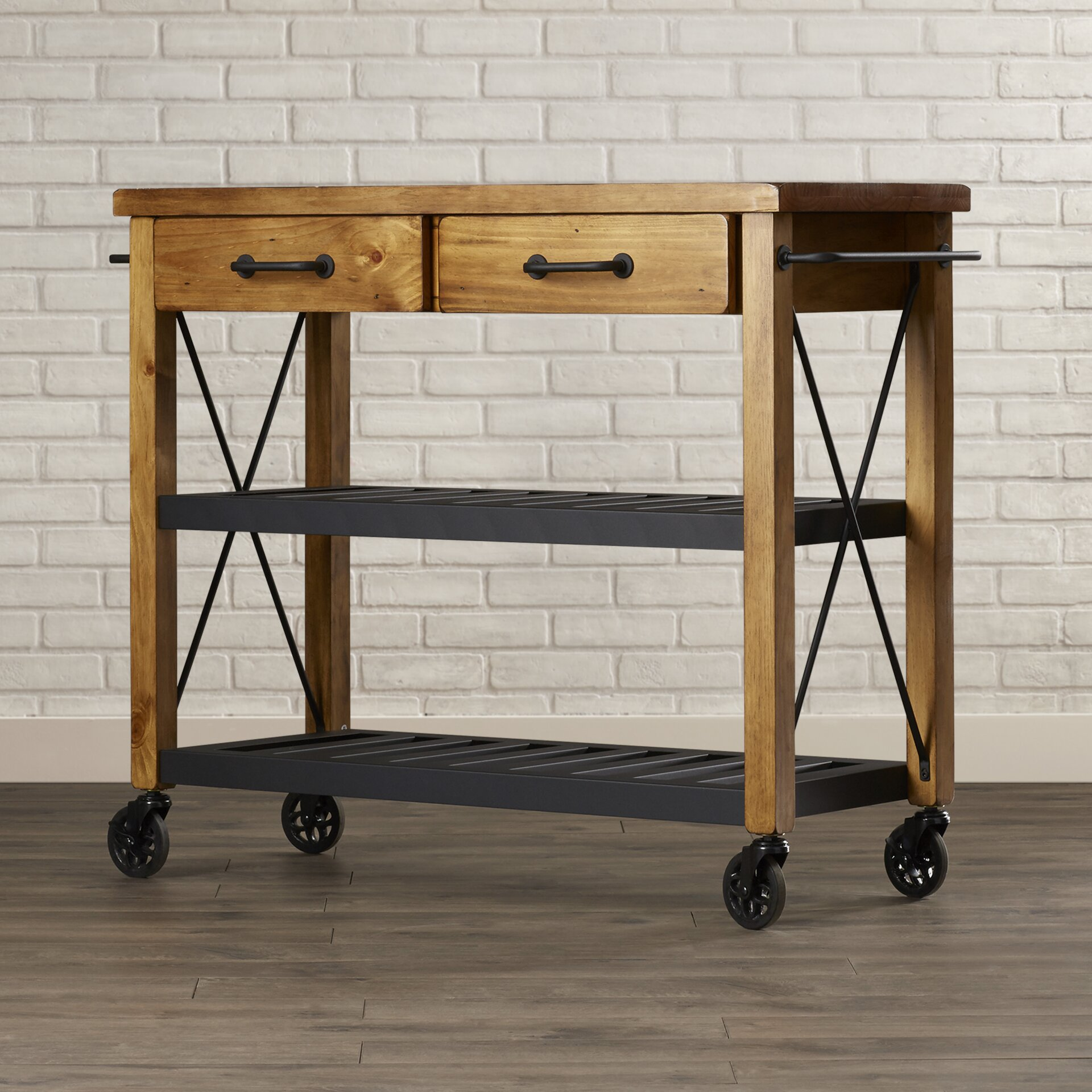 Trent austin design chamberlin kitchen cart reviews for Kitchen trolley designs images