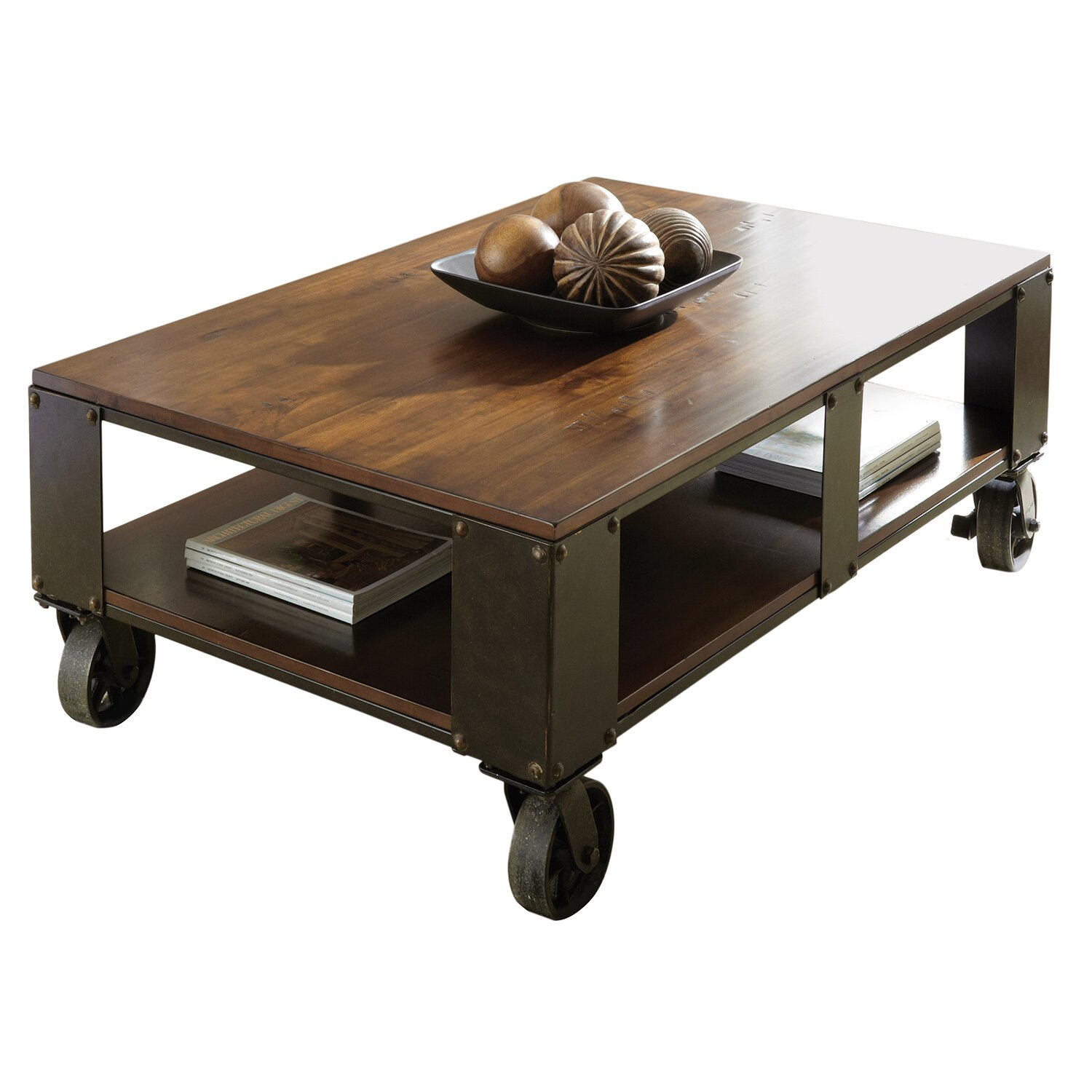 Trent austin design coffee table reviews wayfair supply for Wayfair industrial coffee table