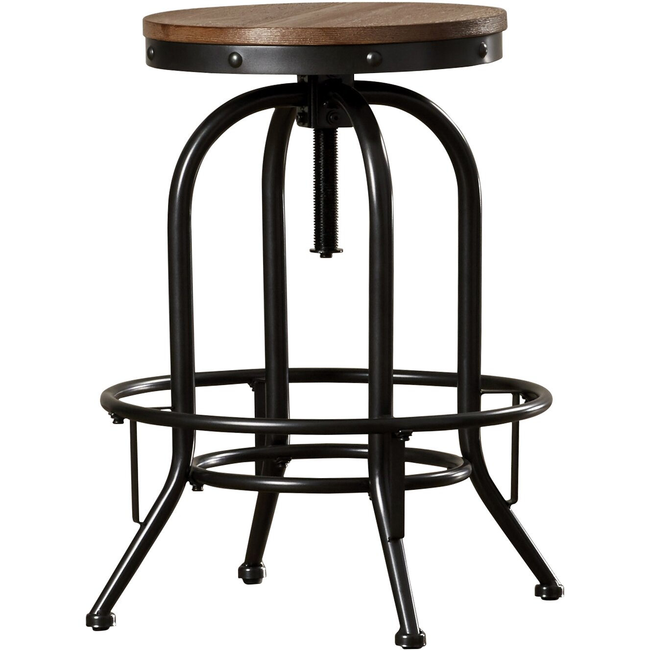 Trent austin design empire adjustable height swivel bar stool reviews wayfair - Average height of bar stools ...