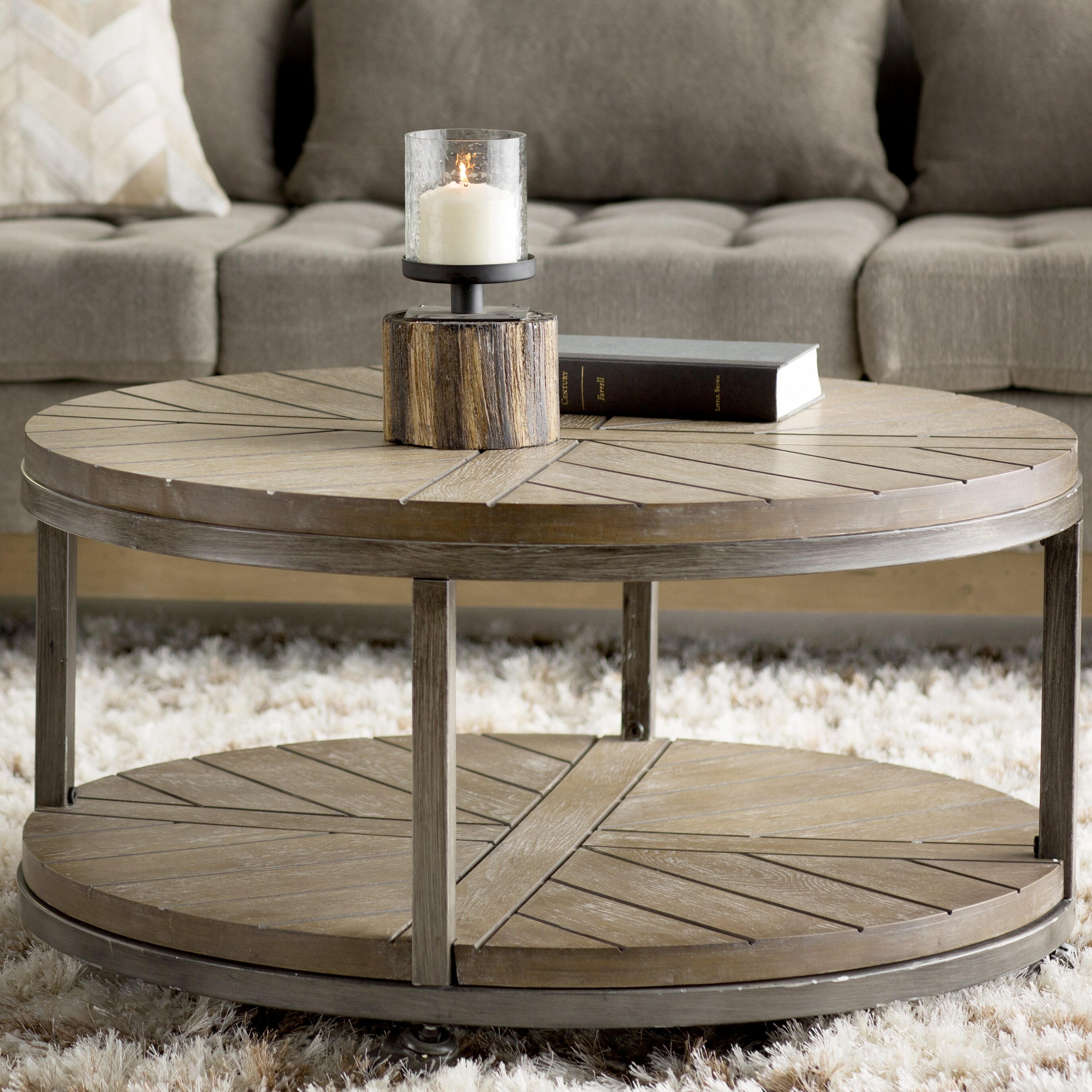 Trent austin design drossett coffee table reviews wayfair Round coffee table in living room
