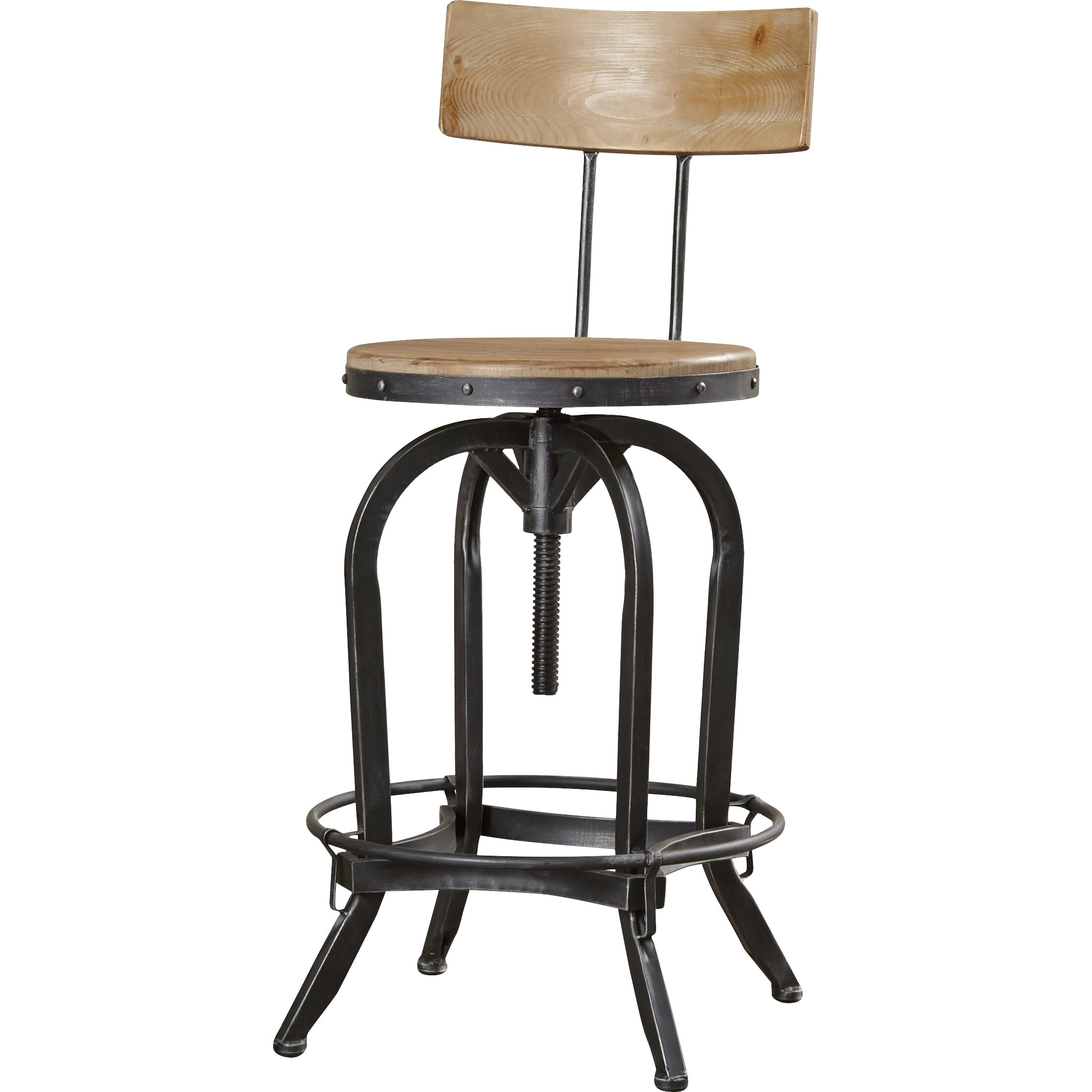Trent austin design oria adjustable height swivel bar for Counter height swivel bar stools