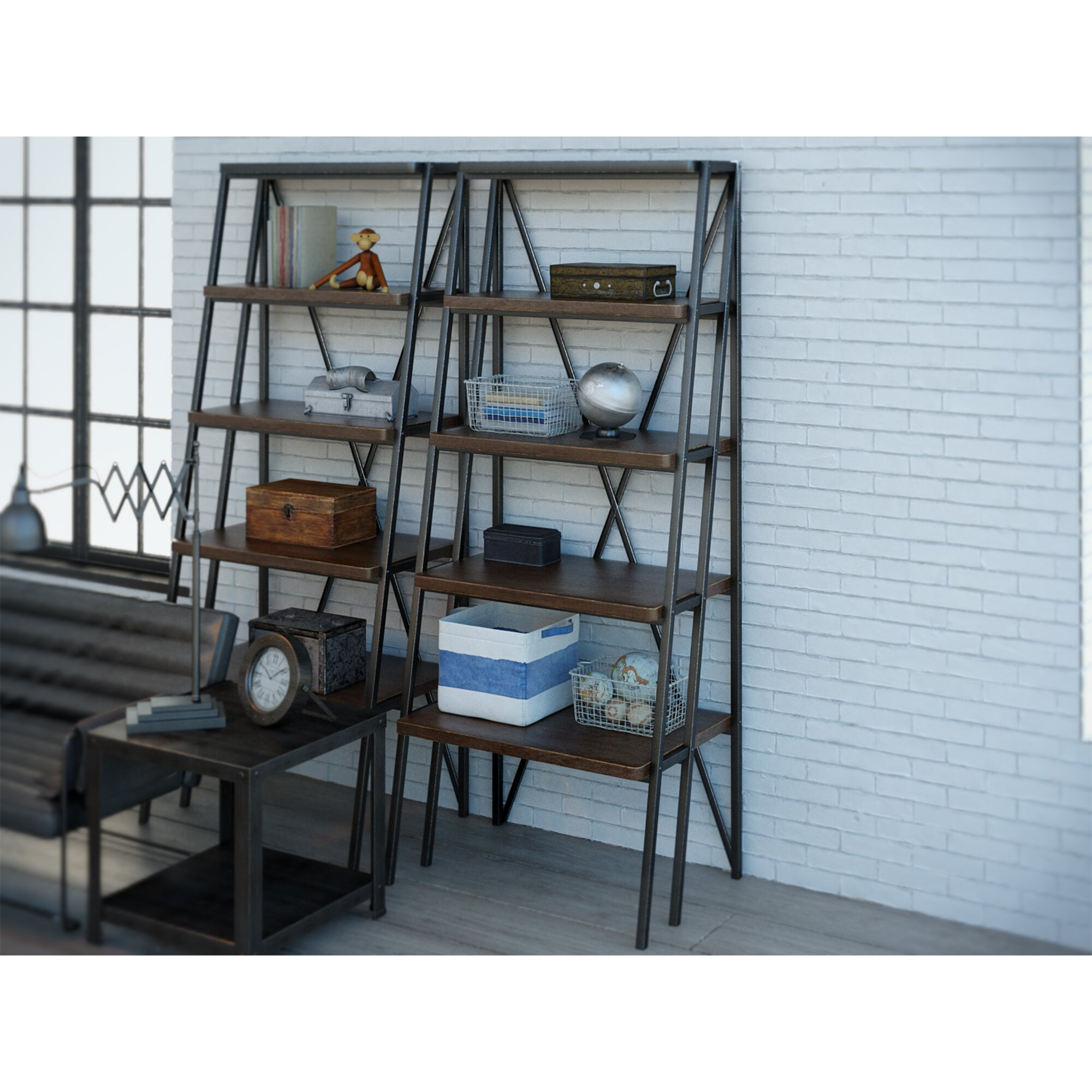 trent austin design lonerock 80 etagere bookcase wayfair. Black Bedroom Furniture Sets. Home Design Ideas