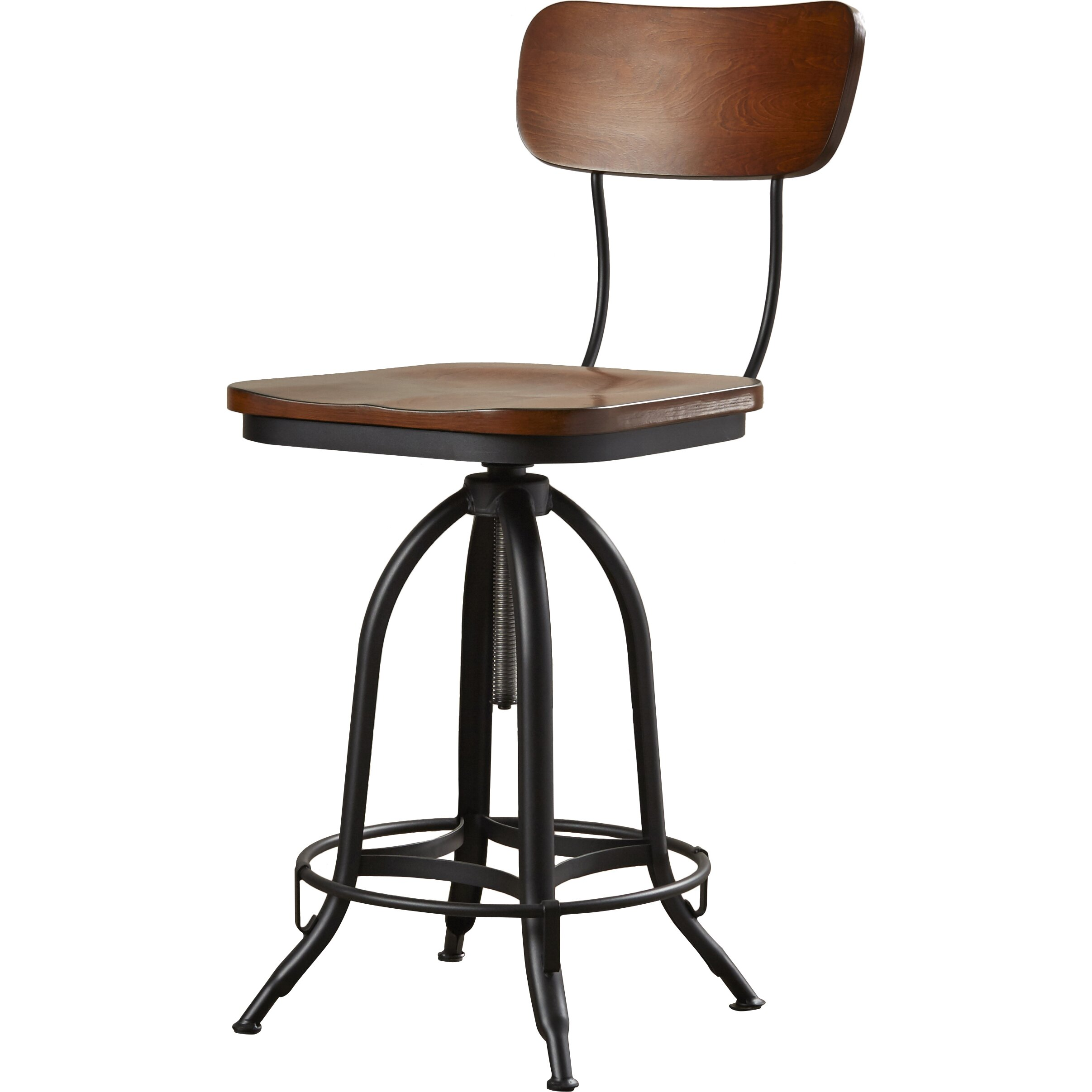 austin design adjustable height swivel bar stool reviews wayfair