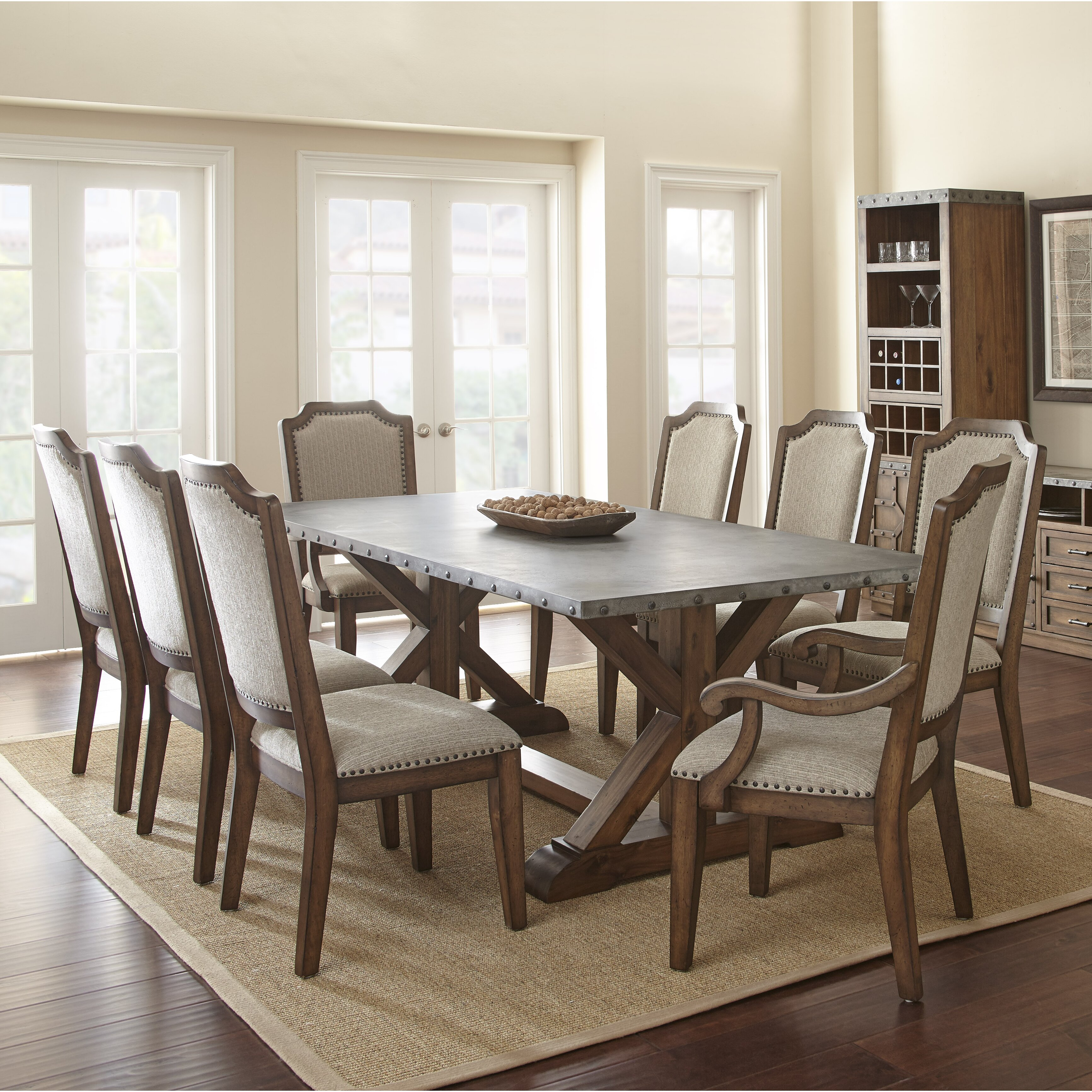 Trent austin design cushing 9 piece dining set reviews wayfair - Dining room sets austin tx ...