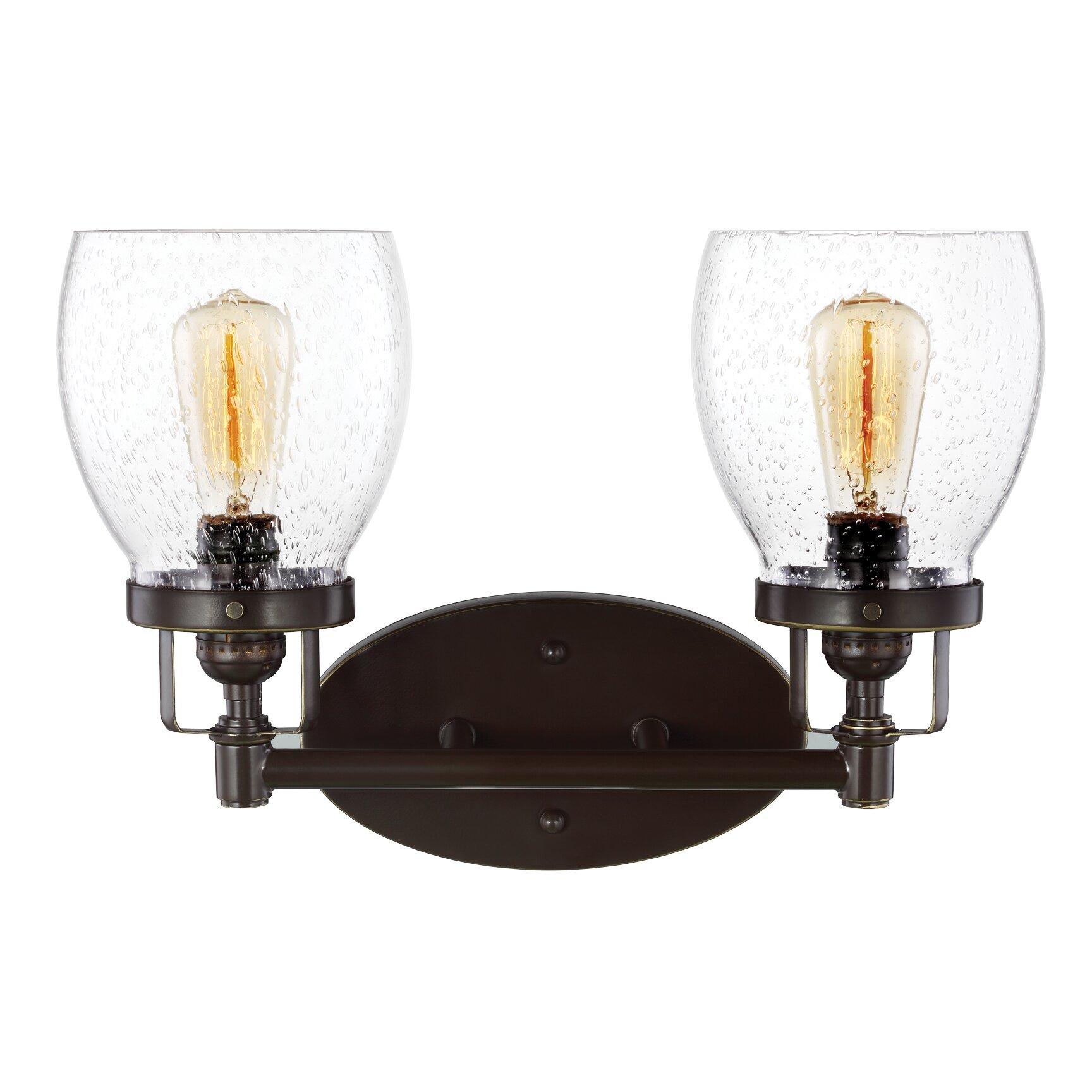 Vanity With Christmas Lights : Trent Austin Design Seiling 2 Light Vanity Light & Reviews Wayfair