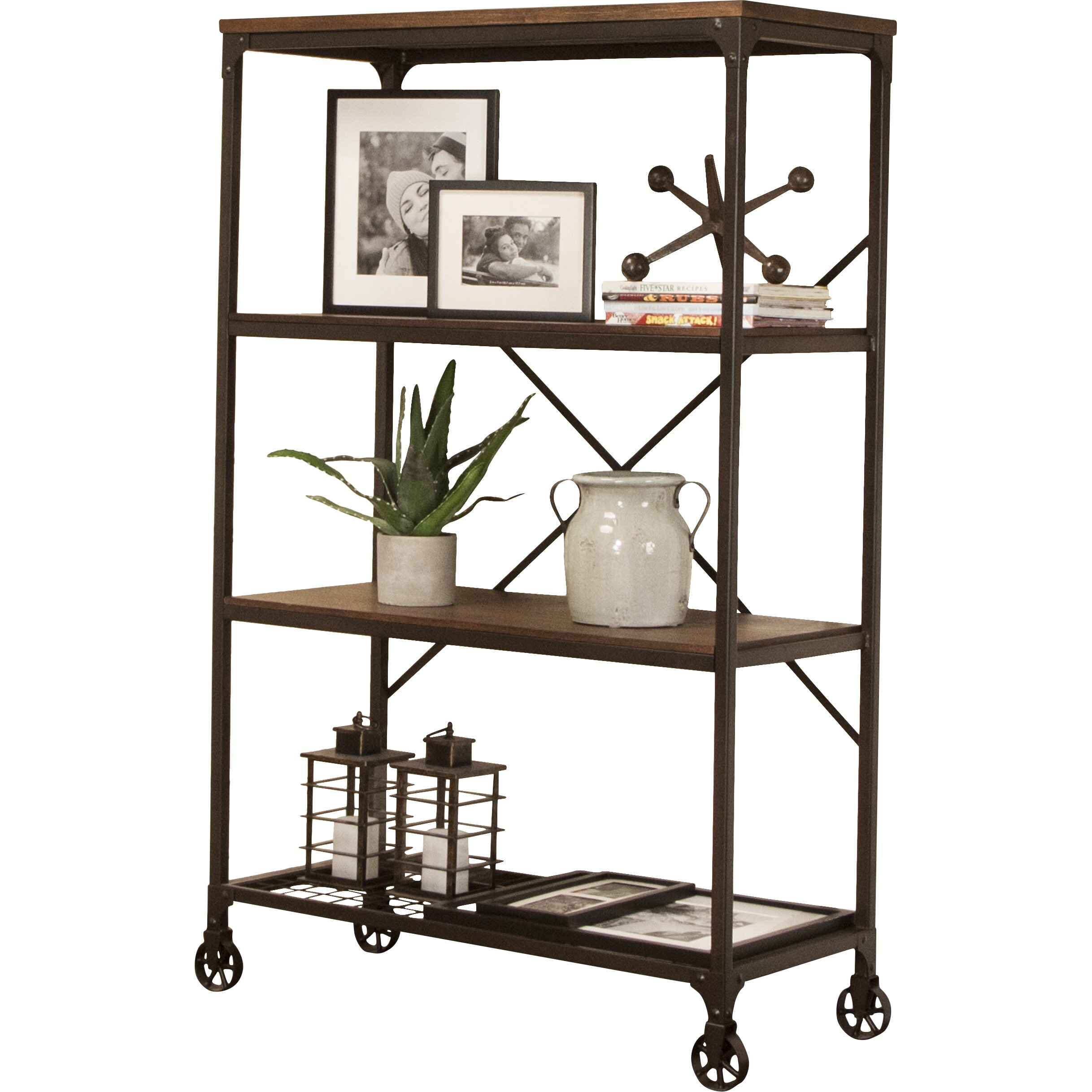 trent austin design chelles 63 etagere bookcase wayfair supply. Black Bedroom Furniture Sets. Home Design Ideas