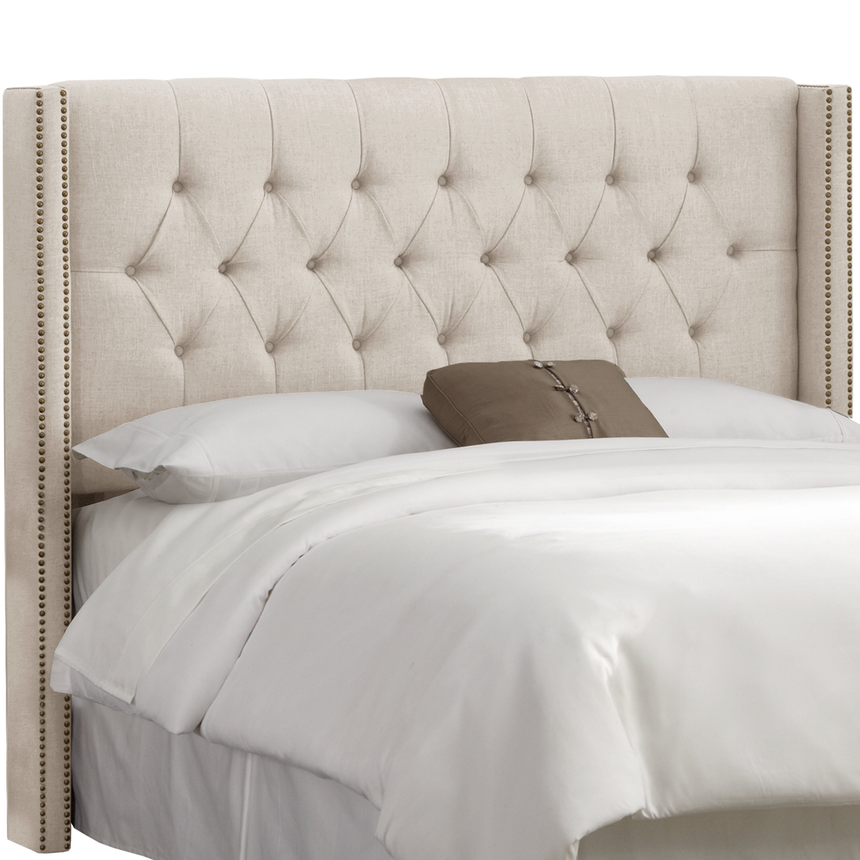 House of Hampton Grammont Tufted Linen Upholstered Headboard & Reviews | Wayfair