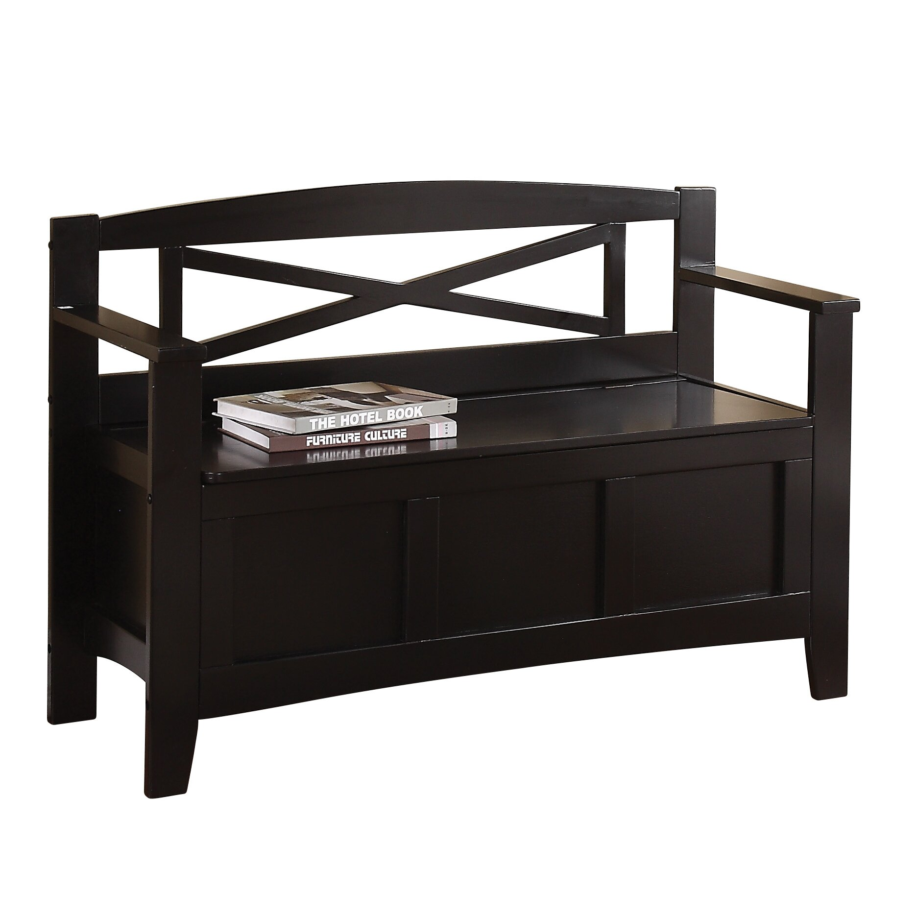 Osp designs metro storage entryway bench reviews wayfair for Entryway mudroom bench