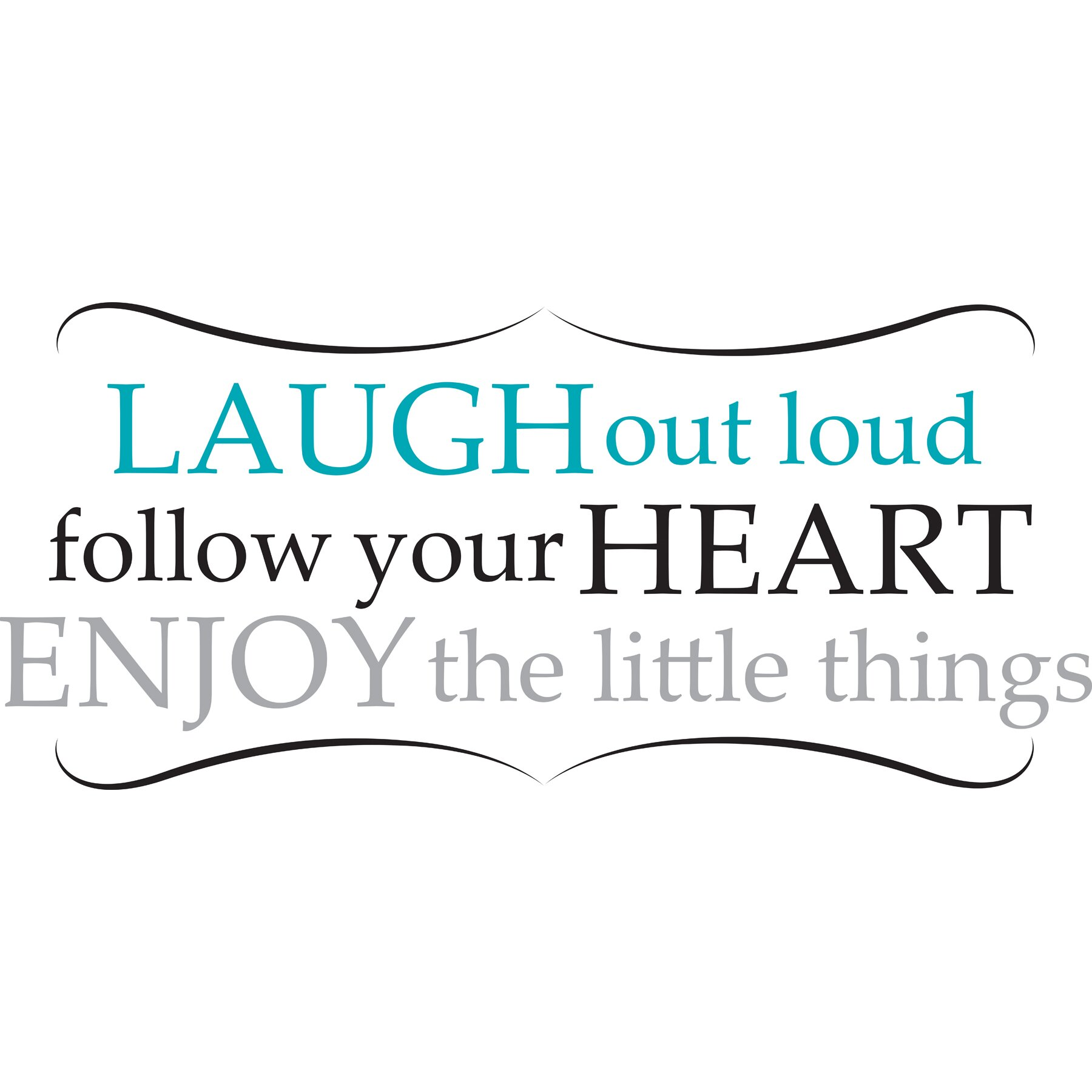 House of Hampton Altimore Laugh Out Loud Quote Wall Decal ...