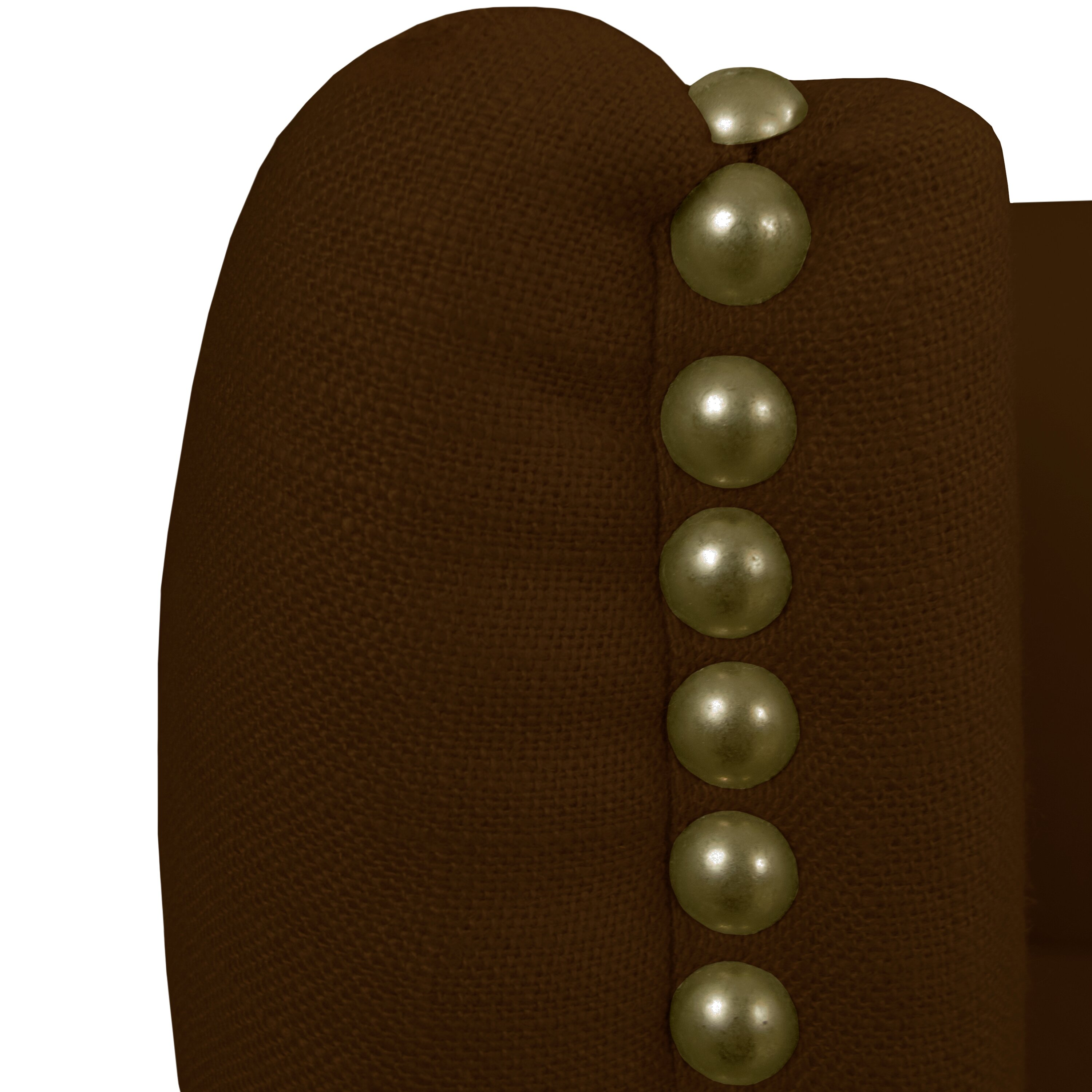 Nail Buttons: House Of Hampton Linen Nail Button Tufted Settee & Reviews