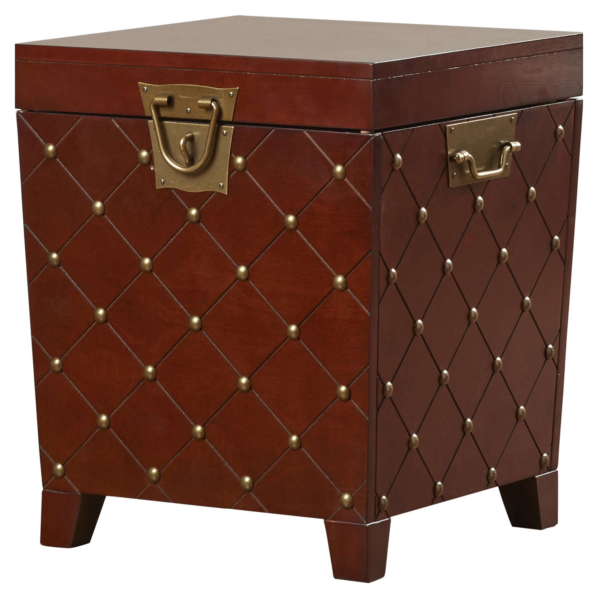 House Of Hampton Evienne Nailhead Trunk End Table