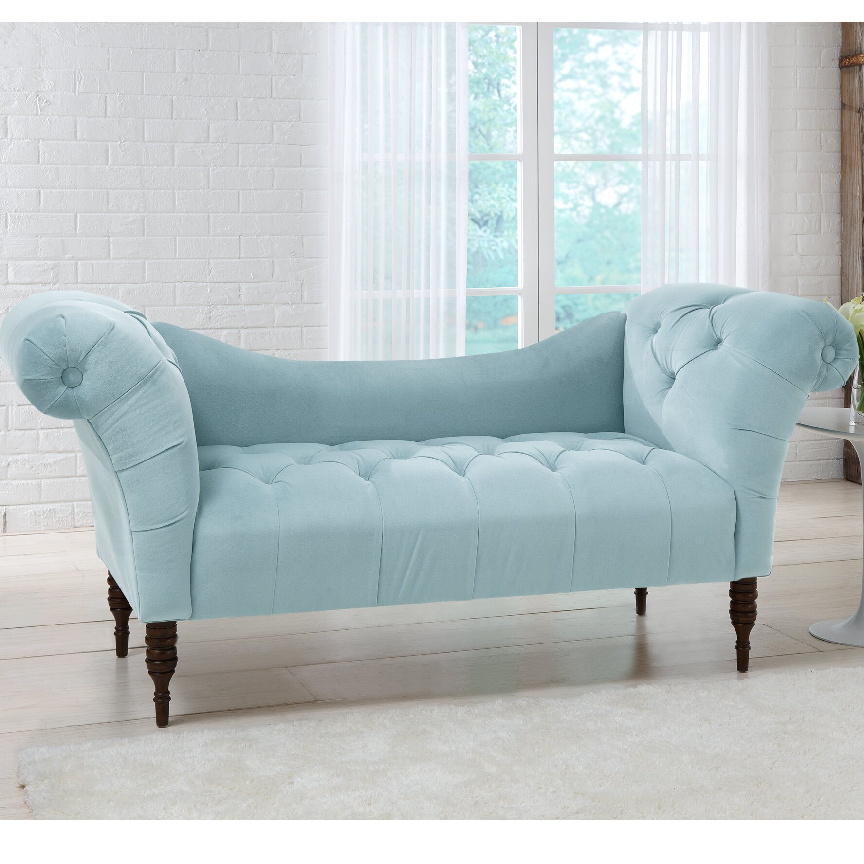 House Of Hampton Hedon Velvet Lounge Settee & Reviews
