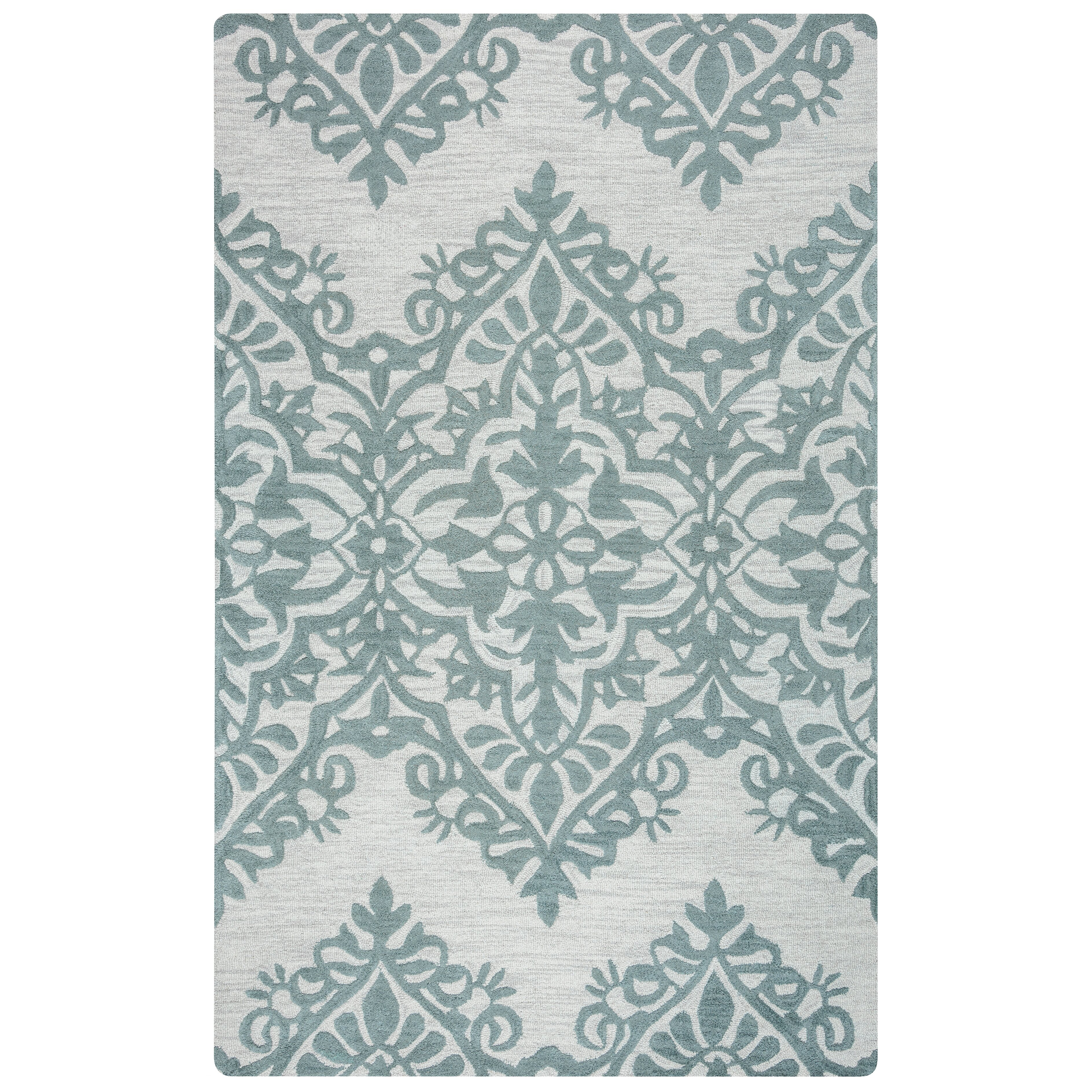 House Of Hampton Ludlow Hand-Tufted Green/Gray Area Rug